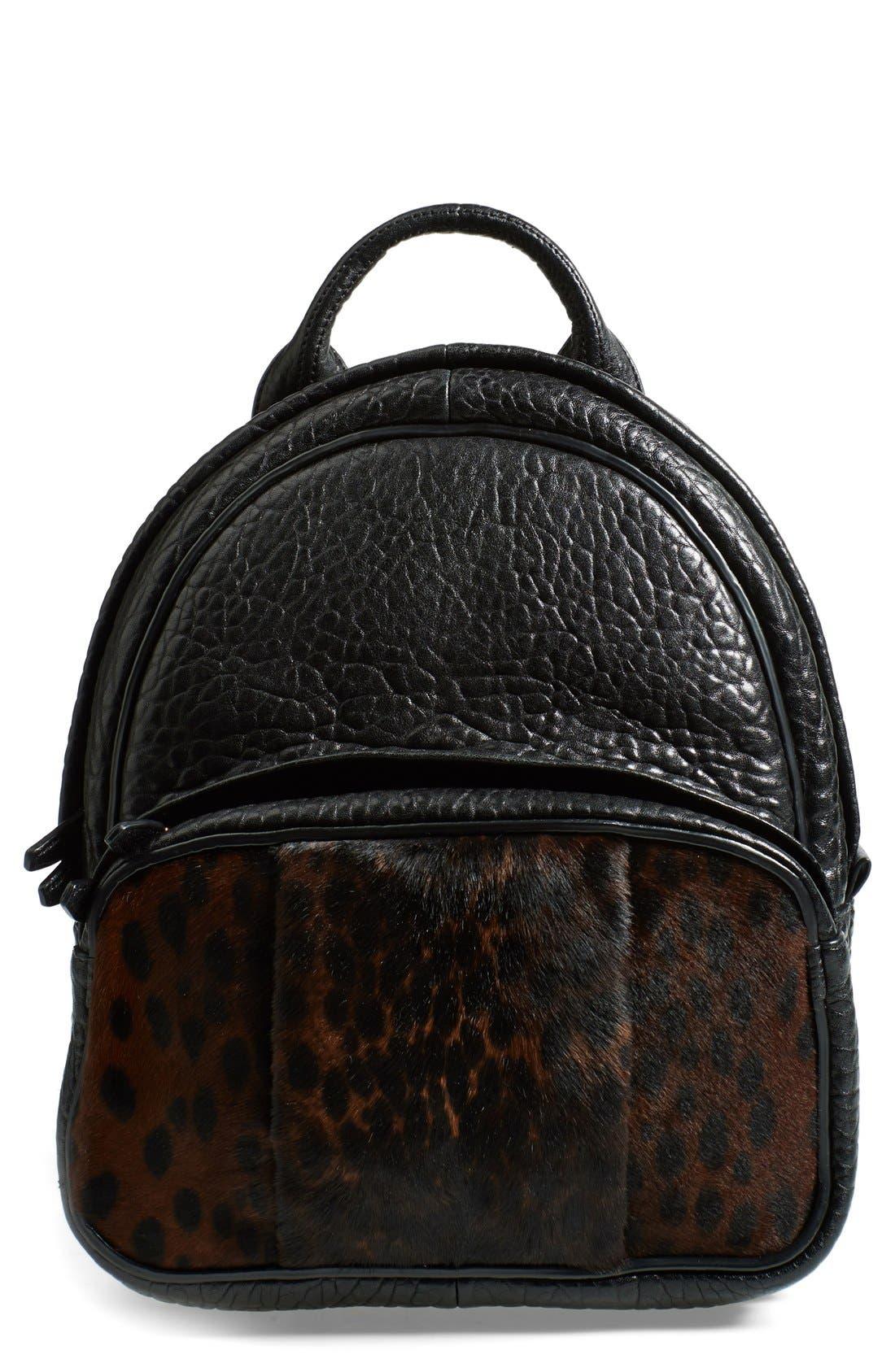 Main Image - Alexander Wang 'Dumbo' Leather & Calf Hair Backpack