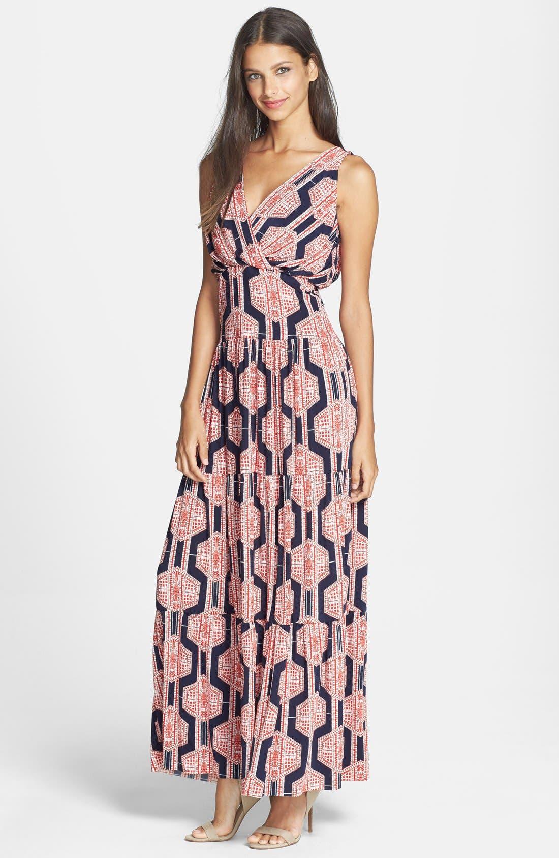 Alternate Image 1 Selected - T Bags Print Jersey Maxi Dress