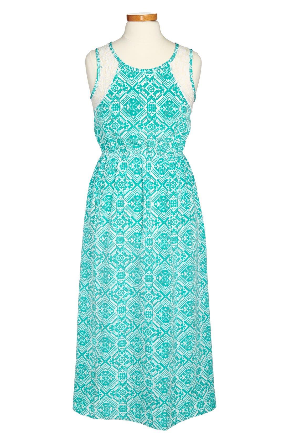 Alternate Image 1 Selected - Soprano Sleeveless Maxi Dress (Big Girls)