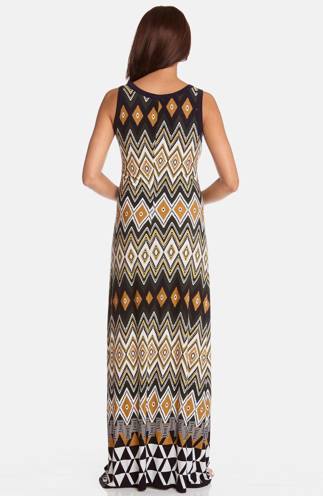 Alternate Image 2  - Karen Kane 'Egyptian Diamond' Print Sleeveless Maxi Dress