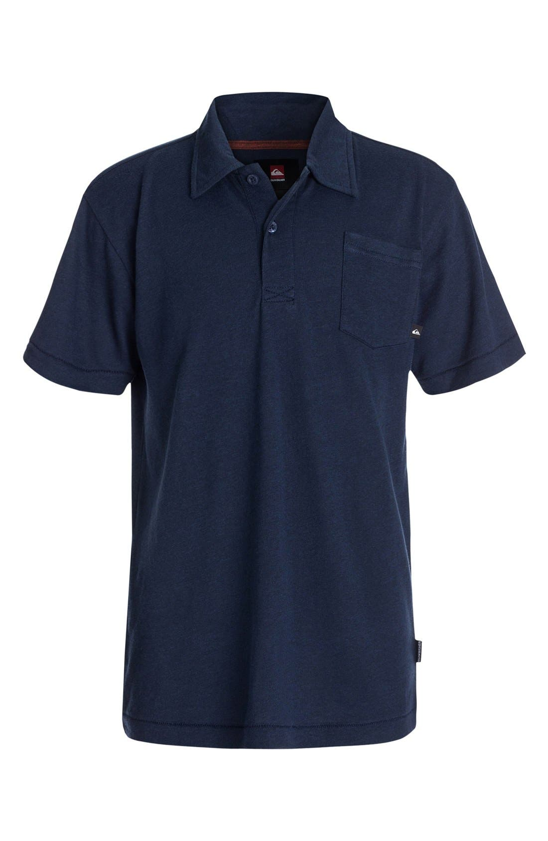 Main Image - Quiksilver 'Core' Cotton Blend Jersey Polo (Baby Boys) (Online Only)