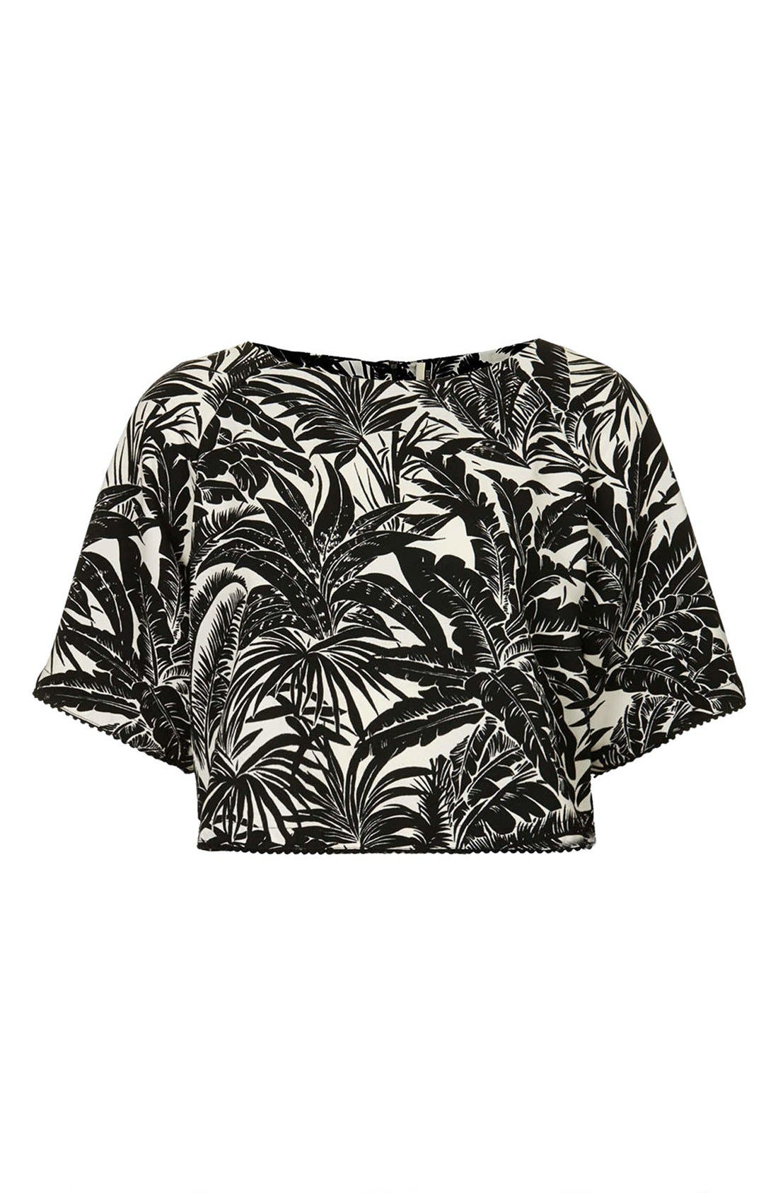 Alternate Image 3  - Topshop Tropical Print Raglan Tee