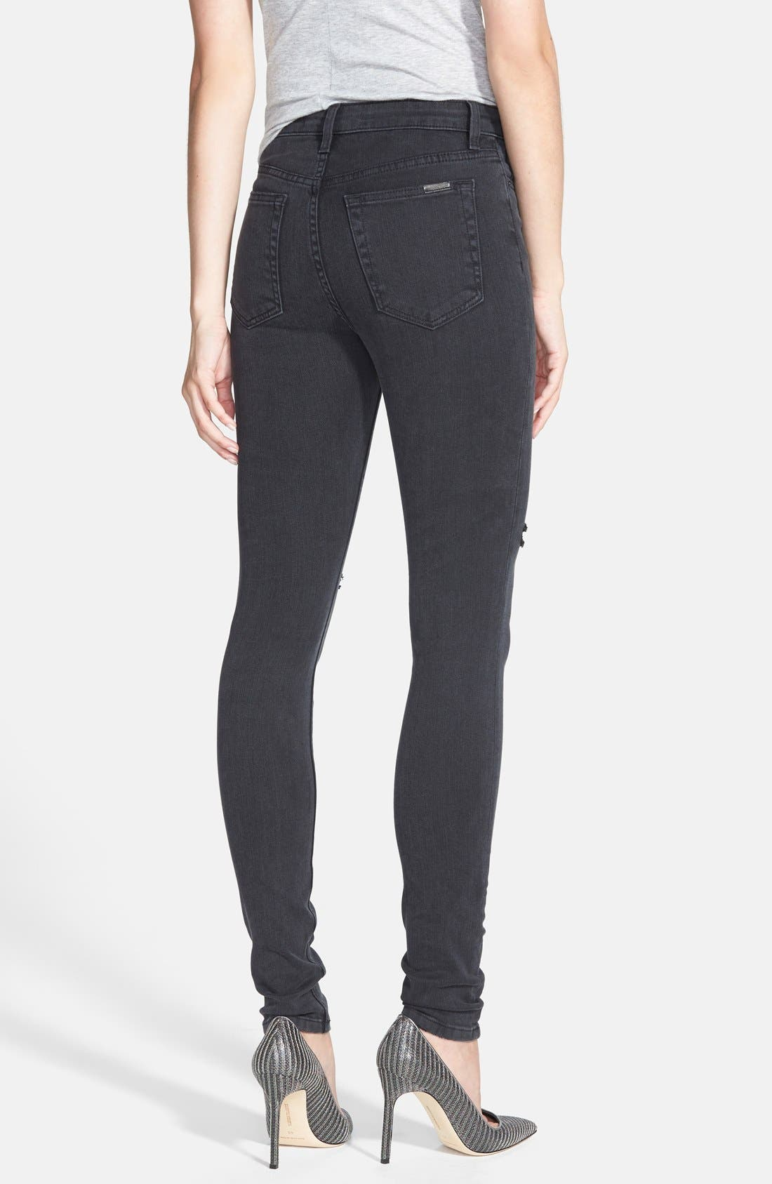 Alternate Image 2  - Joe's High Rise Skinny Jeans (Rhea)