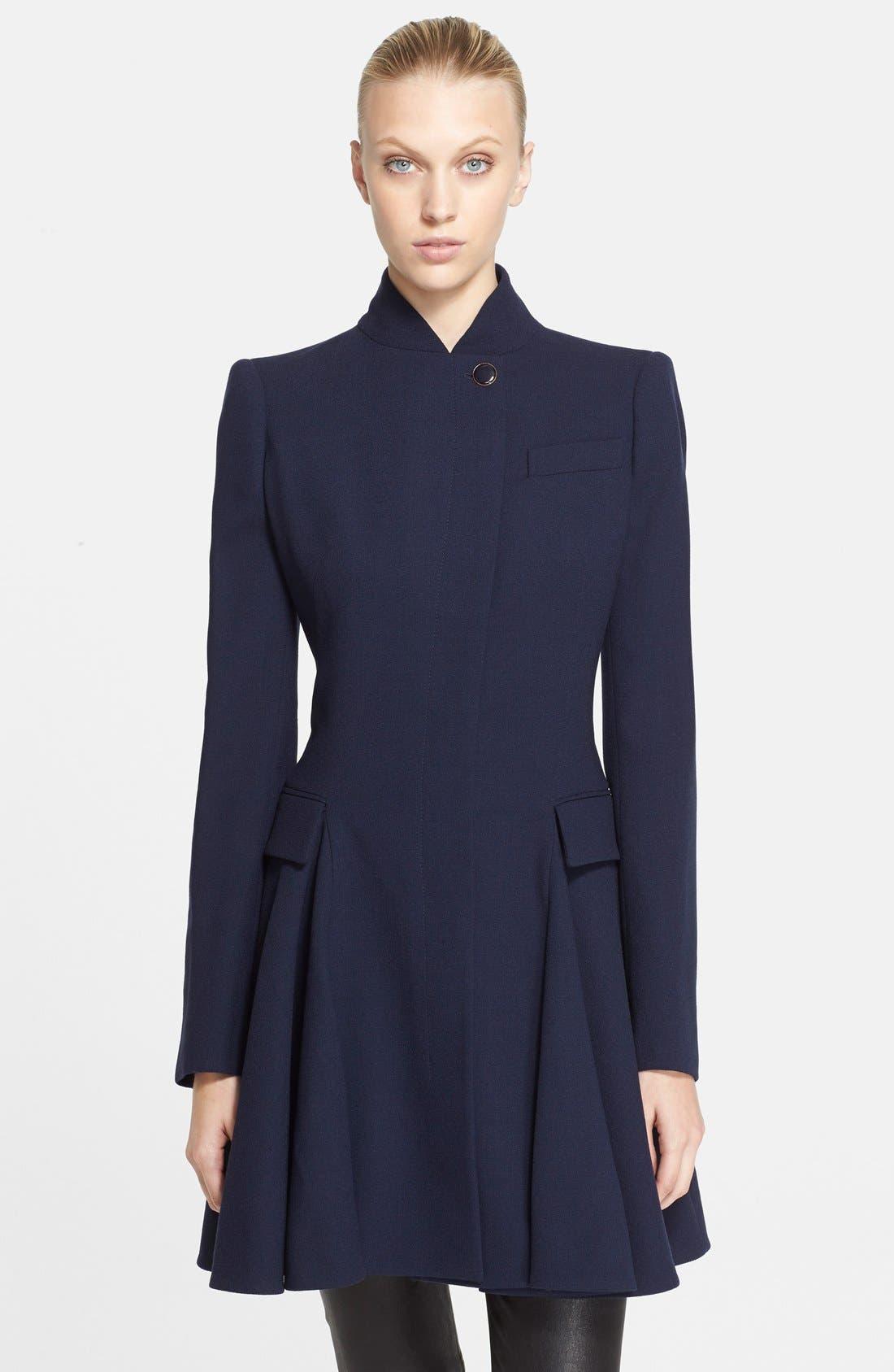 Alternate Image 1 Selected - Alexander McQueen Peplum Wool Coat