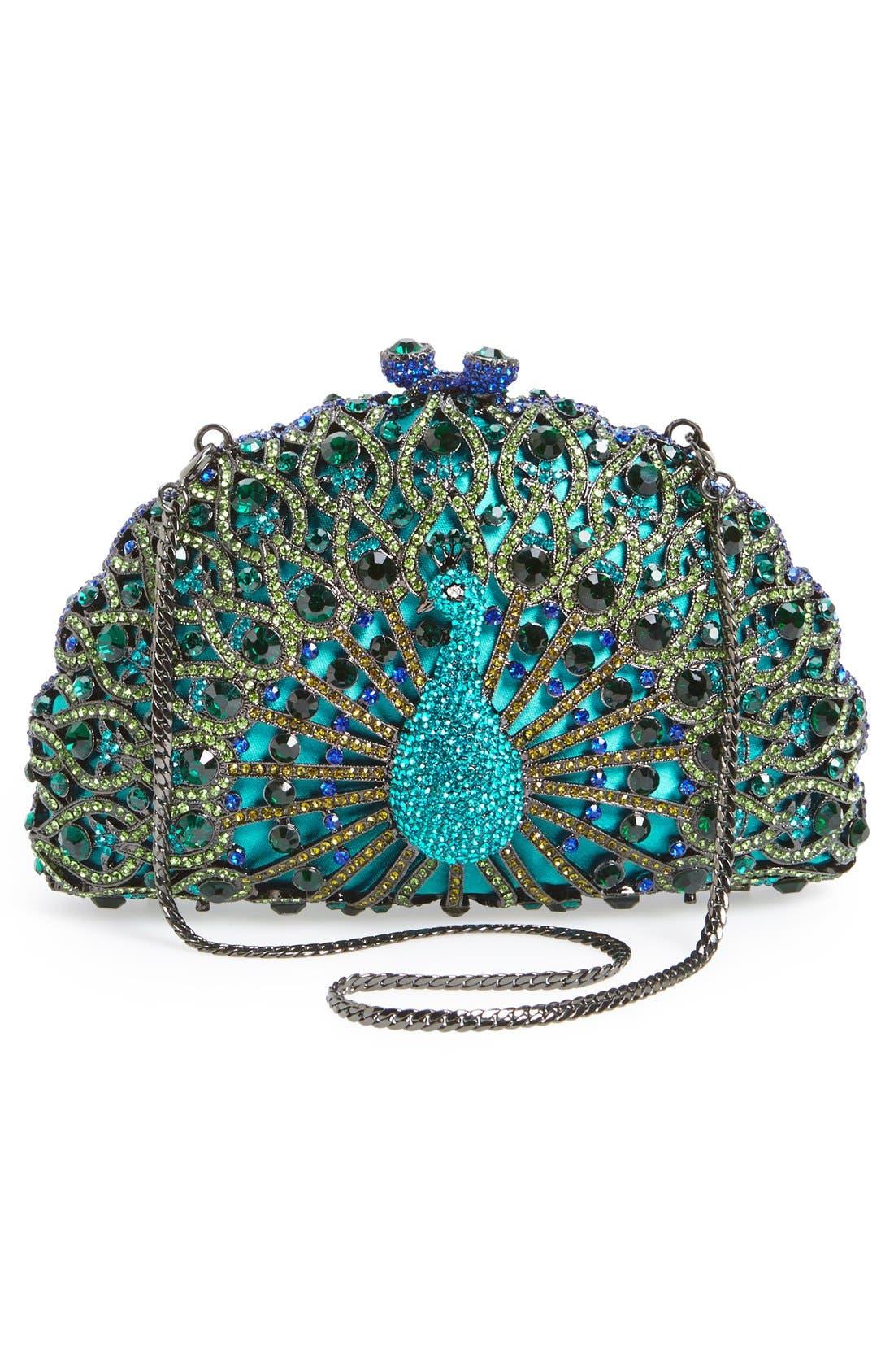 Alternate Image 4  - Natasha Couture 'Peacock' Clutch