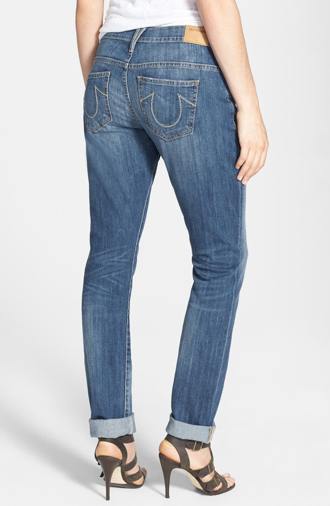 Alternate Image 2  - True Religion Brand Jeans 'Audrey' Boyfriend Jeans (Spring Ink)