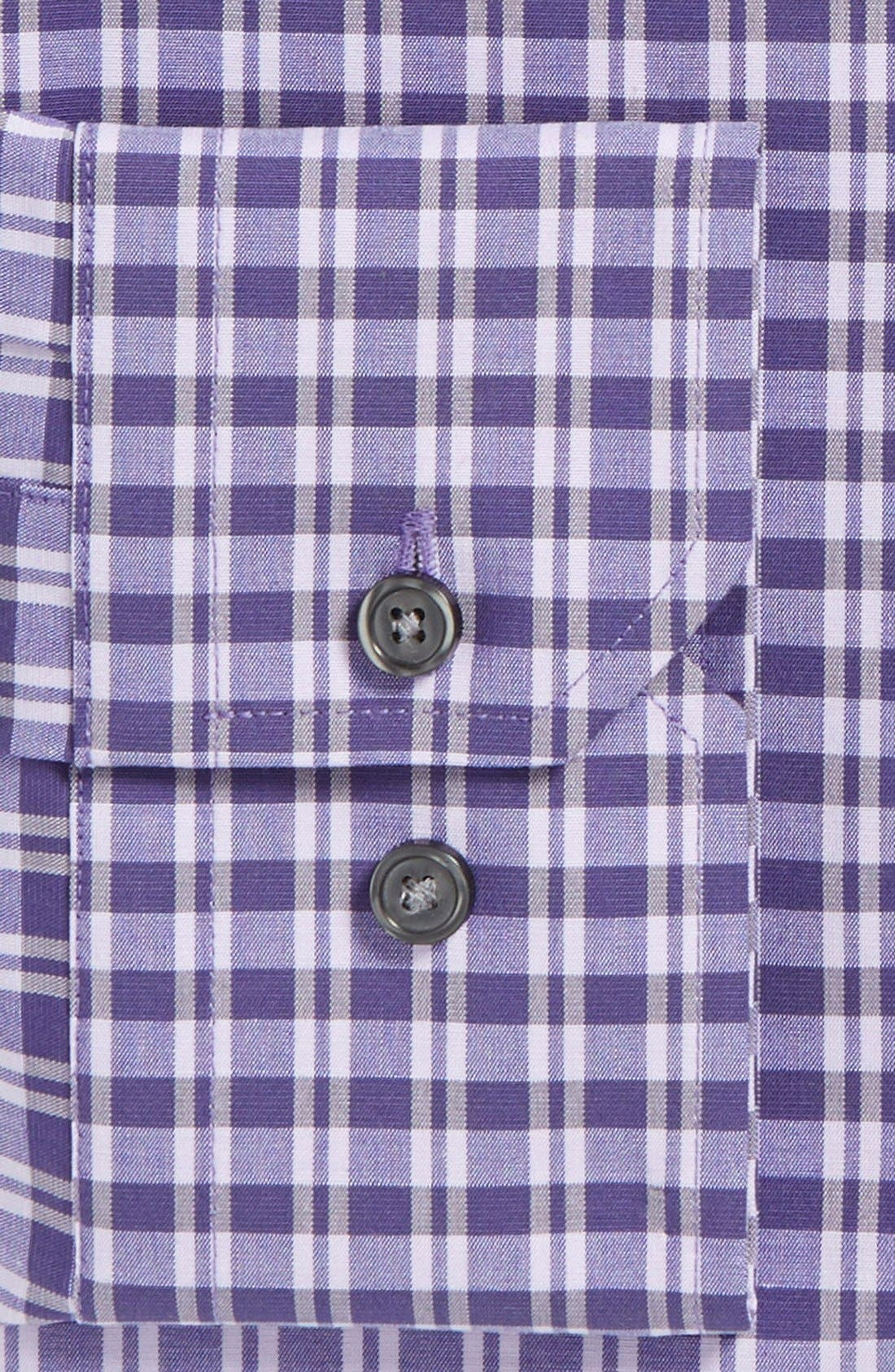 Alternate Image 2  - Calibrate Extra Trim Fit Non-Iron Check Dress Shirt