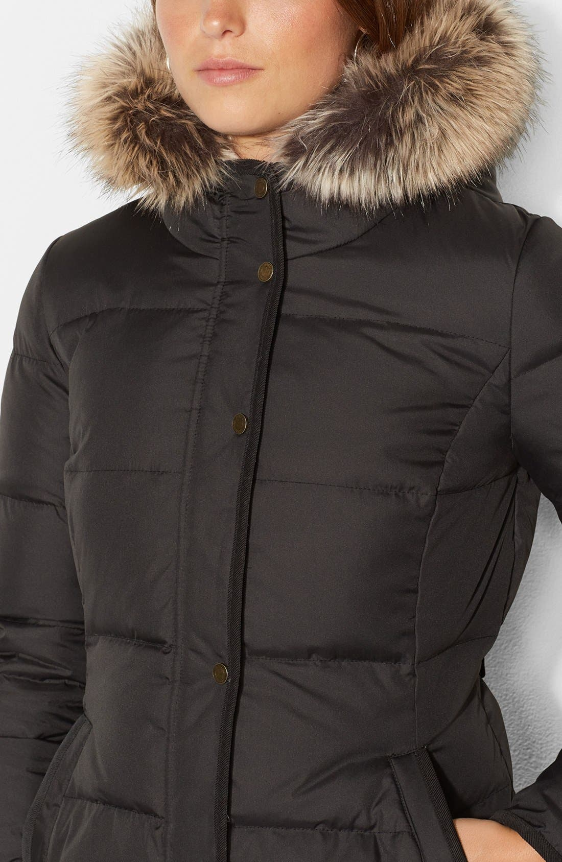 Alternate Image 3  - Lauren Ralph Lauren Faux Shearling Lined Down & Feather Jacket (Online Only)