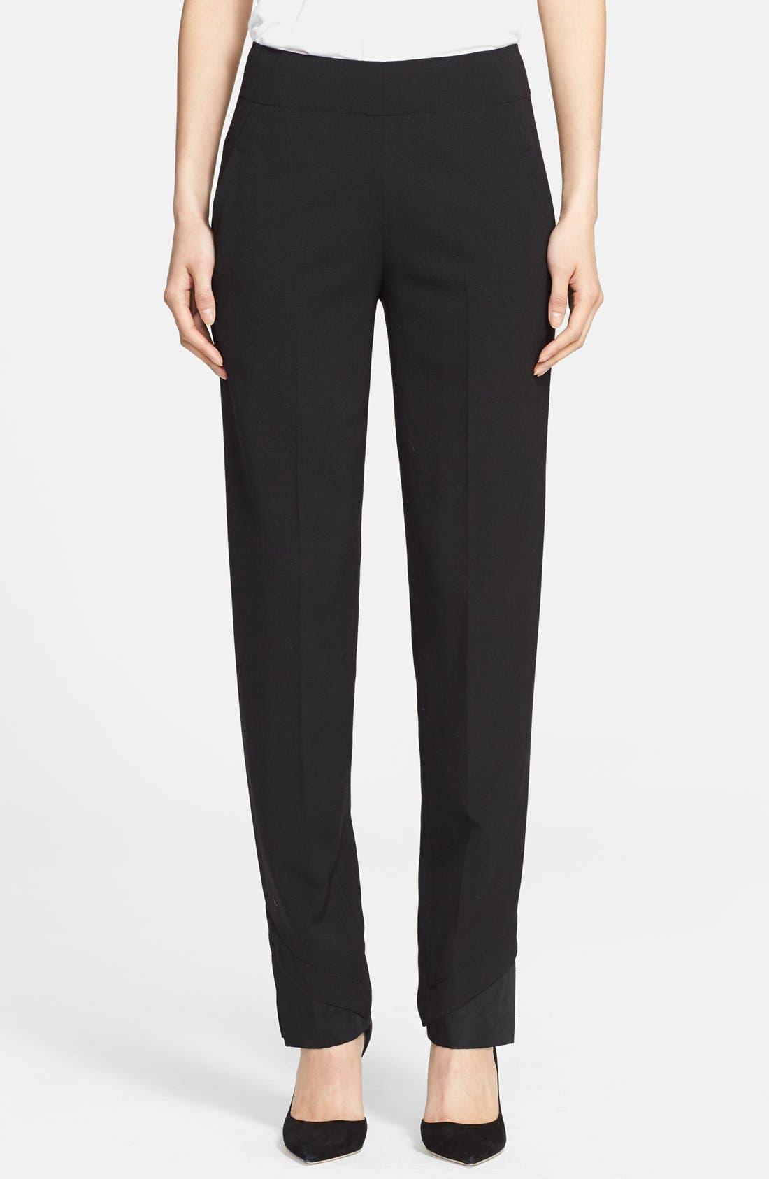 Alternate Image 1 Selected - Donna Karan Collection Slim Wool Jersey Pants