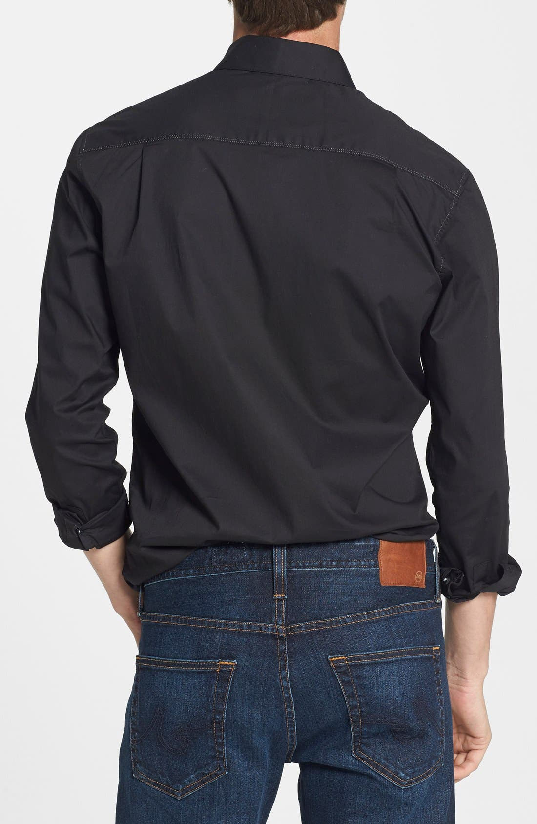 Alternate Image 2  - 7 Diamonds 'All American' Trim Fit Cotton Blend Sport Shirt