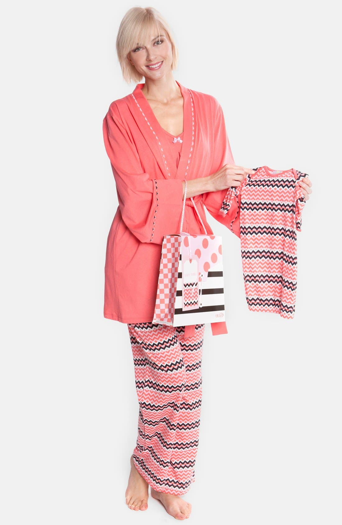 Olian Four-Piece Maternity Sleepwear Gift Set