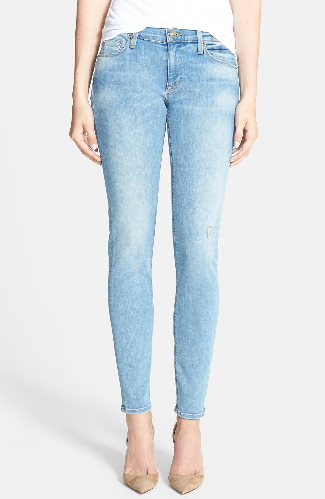 Main Image - Hudson Jeans 'Krista' Super Skinny Jeans (Mischief)