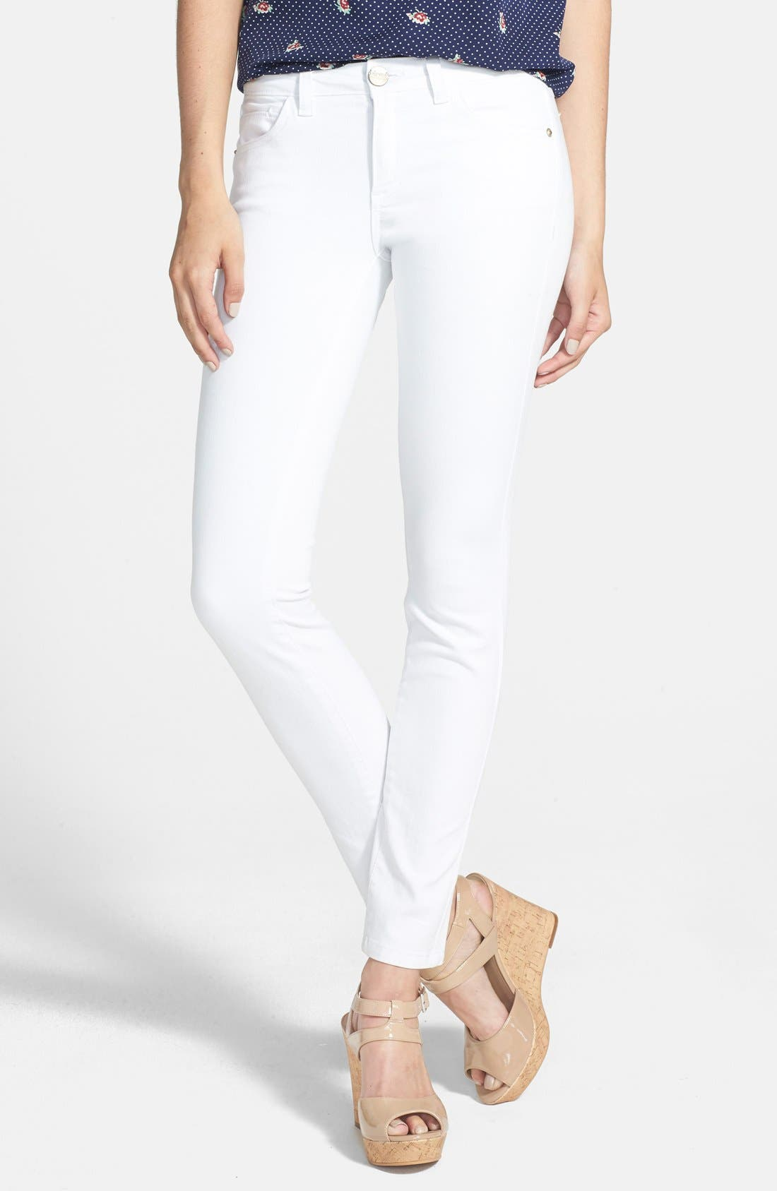 Alternate Image 1 Selected - HART Denim 'Amy' Stretch Skinny Jeans (White)