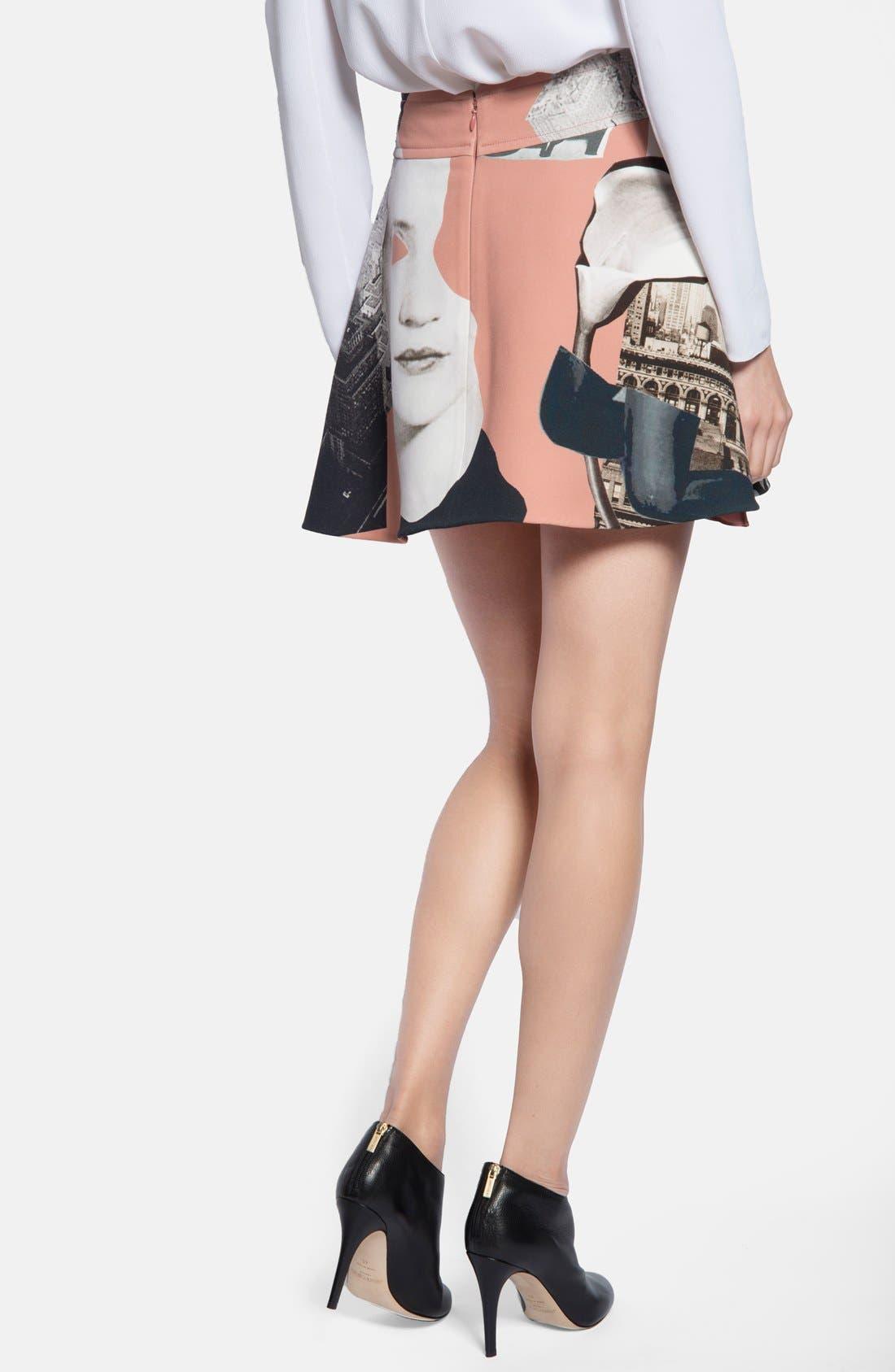 Alternate Image 2  - Carven Print Flared Skirt
