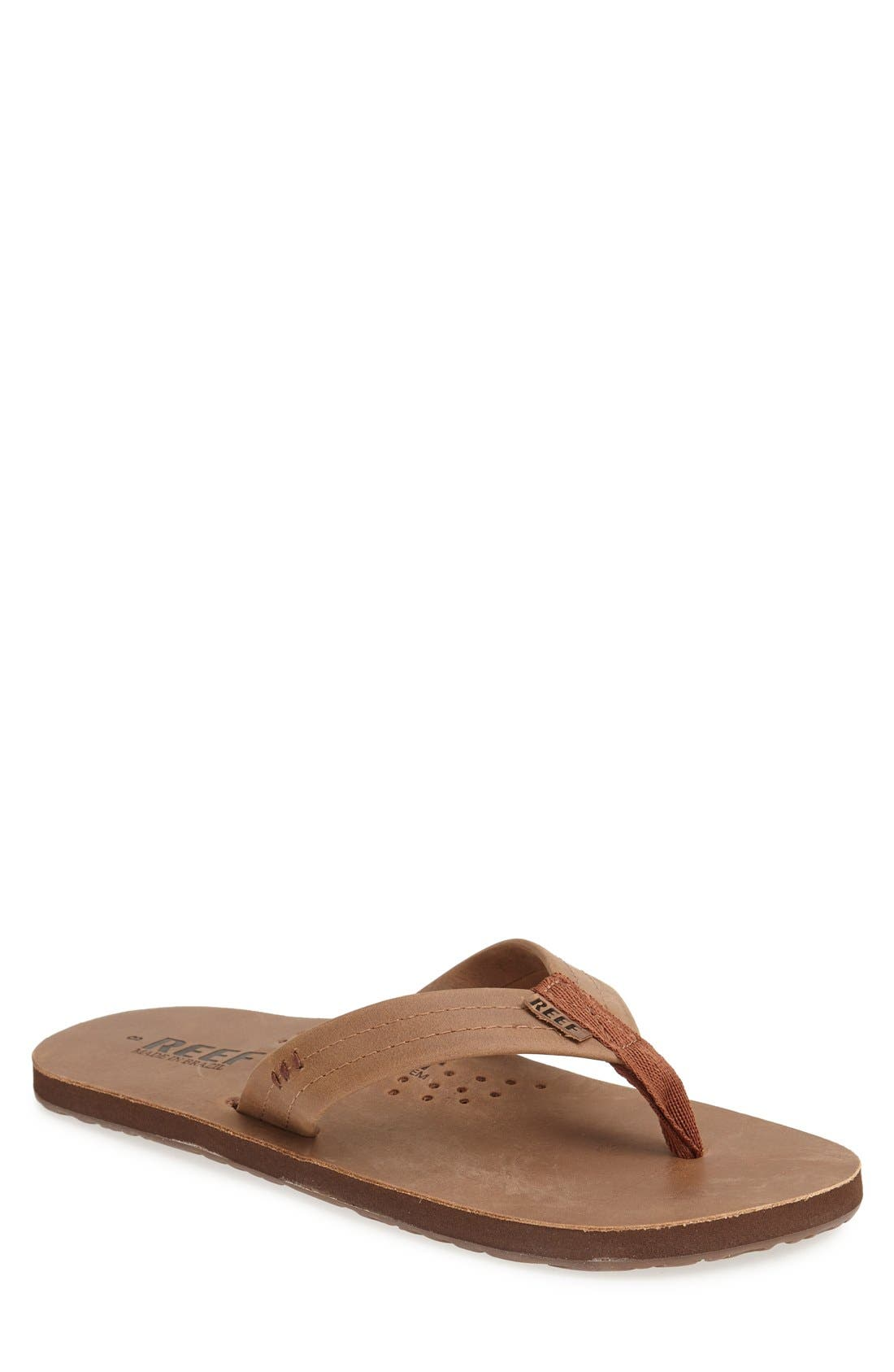 Alternate Image 1 Selected - Reef 'Draftsmen' Leather Flip Flop (Men)