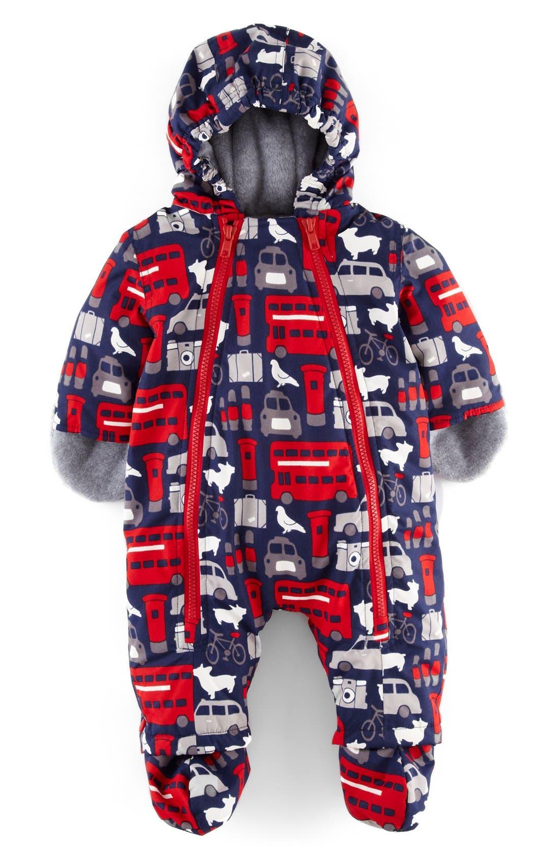 Alternate Image 1 Selected - Mini Boden Waterproof Snowsuit (Baby Boys)