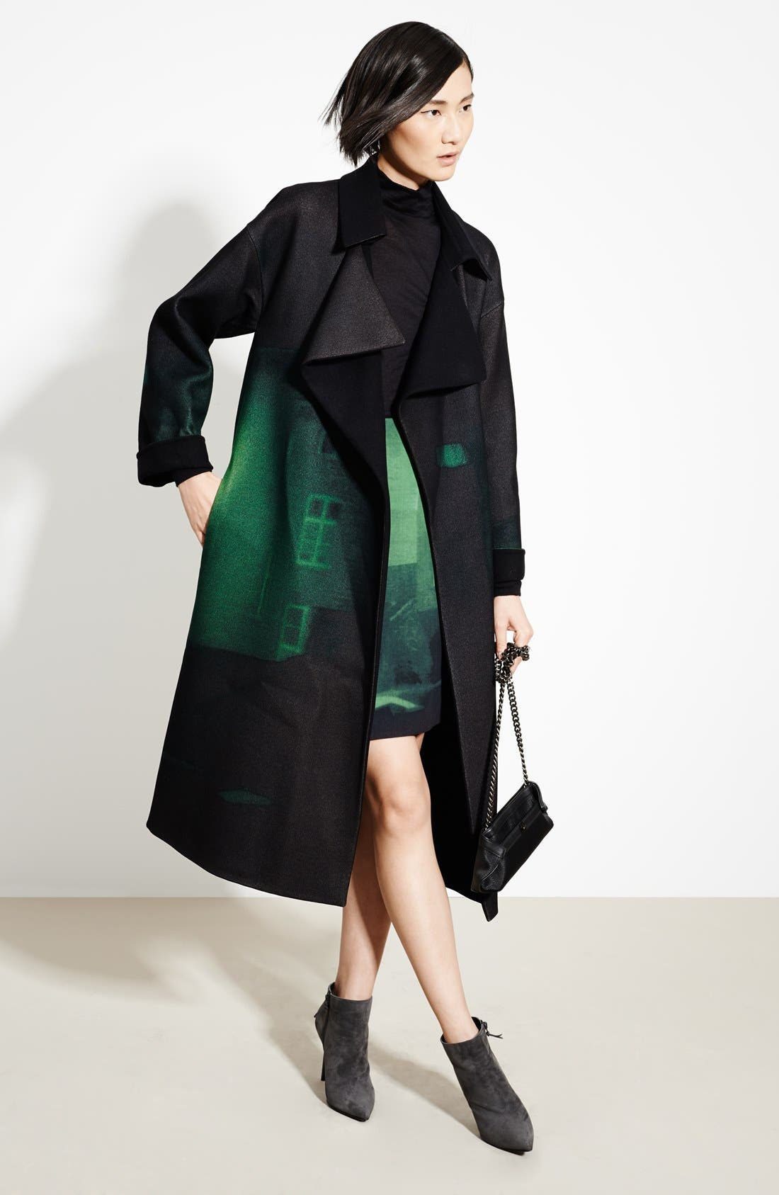 Alternate Image 5  - Akris Print Double Face Wool Blend Skirt