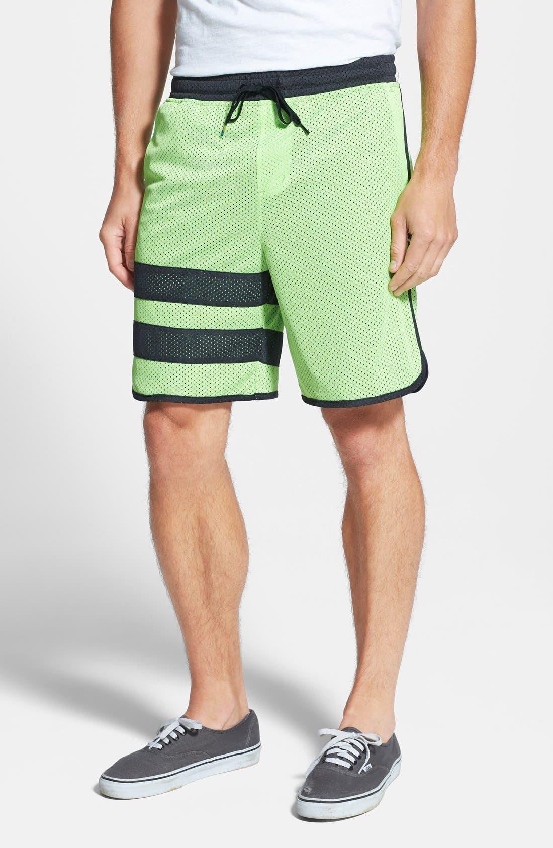 Alternate Image 1 Selected - Hurley 'Block Party' Mesh DRI-Fit Shorts