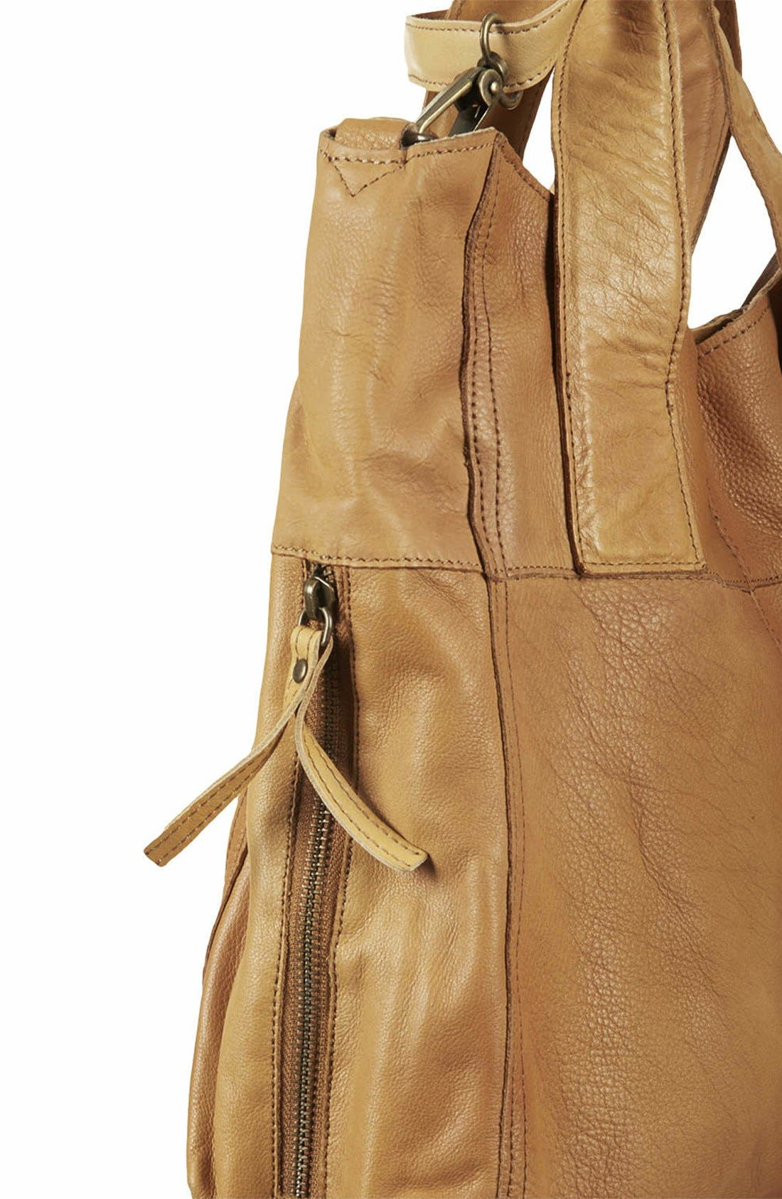 Alternate Image 3  - Topshop 'Alba' Leather Hobo Bag