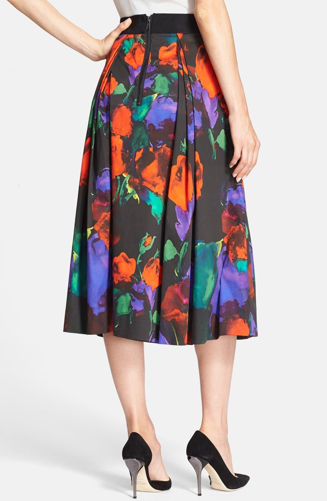 Alternate Image 2  - Milly Pleated Midi Skirt