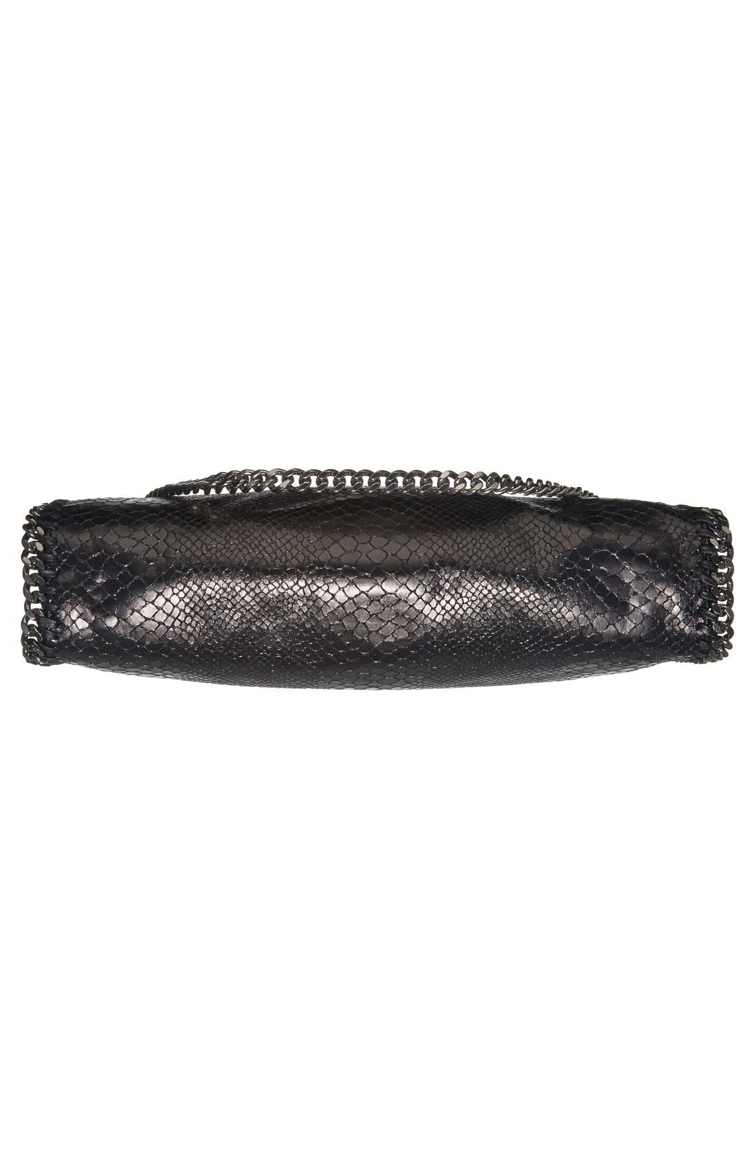 Alternate Image 6  - Stella McCartney 'Small Falabella' Snake Embossed Foldover Tote