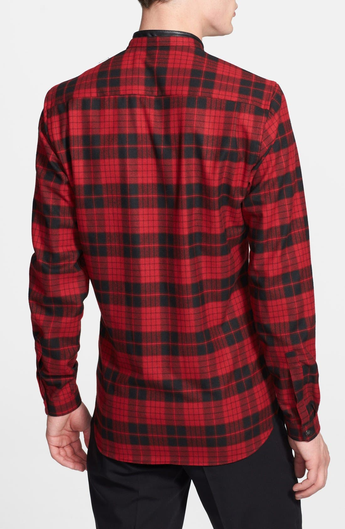 Alternate Image 2  - The Kooples Band Collar Plaid Flannel Shirt