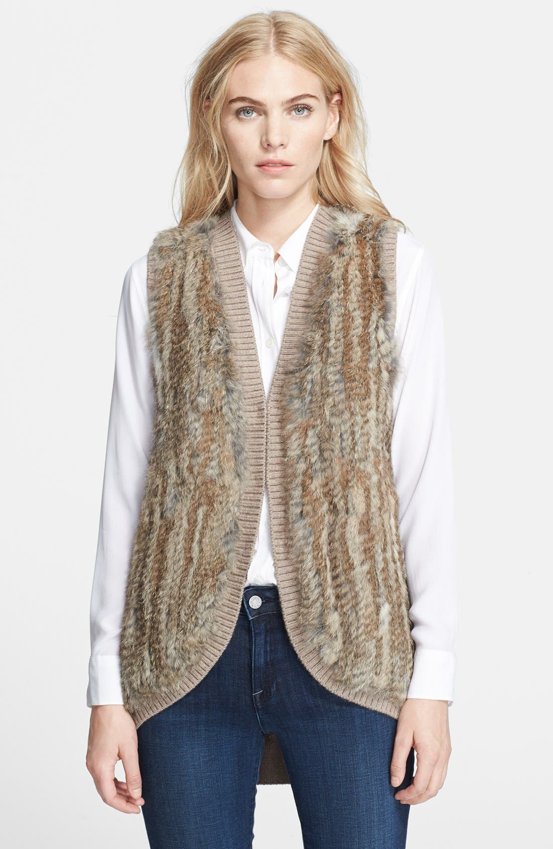 Main Image - Joie 'Ellera' Genuine Rabbit Fur Sleeveless Jacket