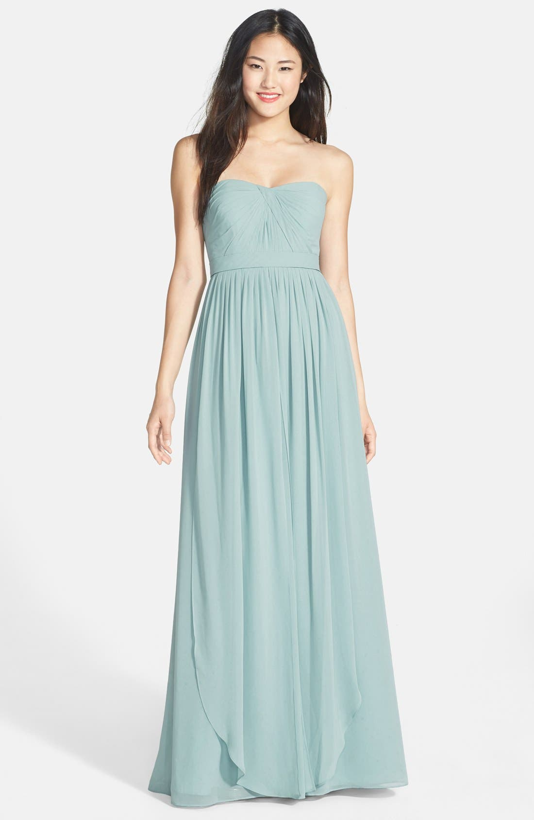 Alternate Image 1 Selected - Jenny Yoo 'Aidan' Convertible Strapless Chiffon Gown