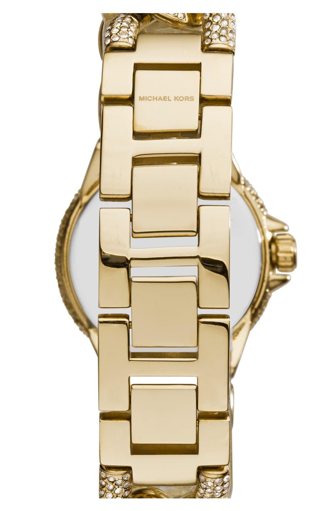 Alternate Image 2  - Michael Kors 'Mini Camille' Crystal Encrusted Chain Link Bracelet Watch, 34mm