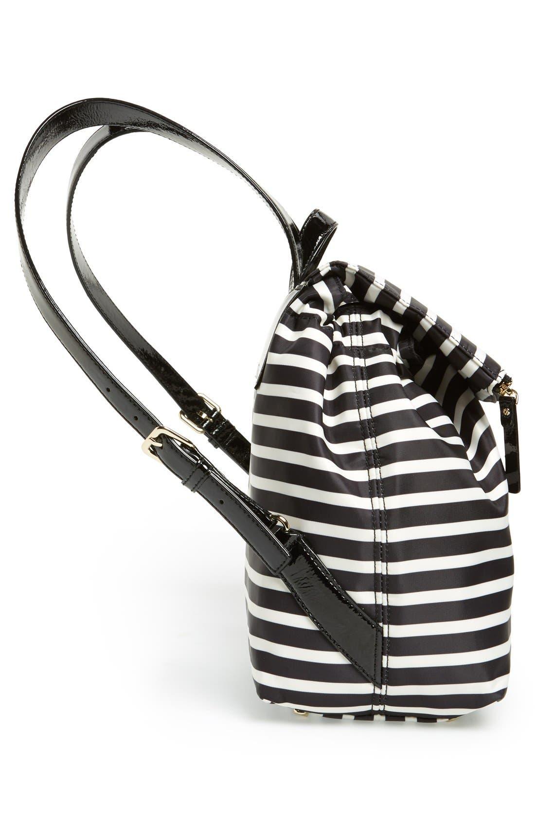 Alternate Image 5  - kate spade new york 'pattern' stripe backpack