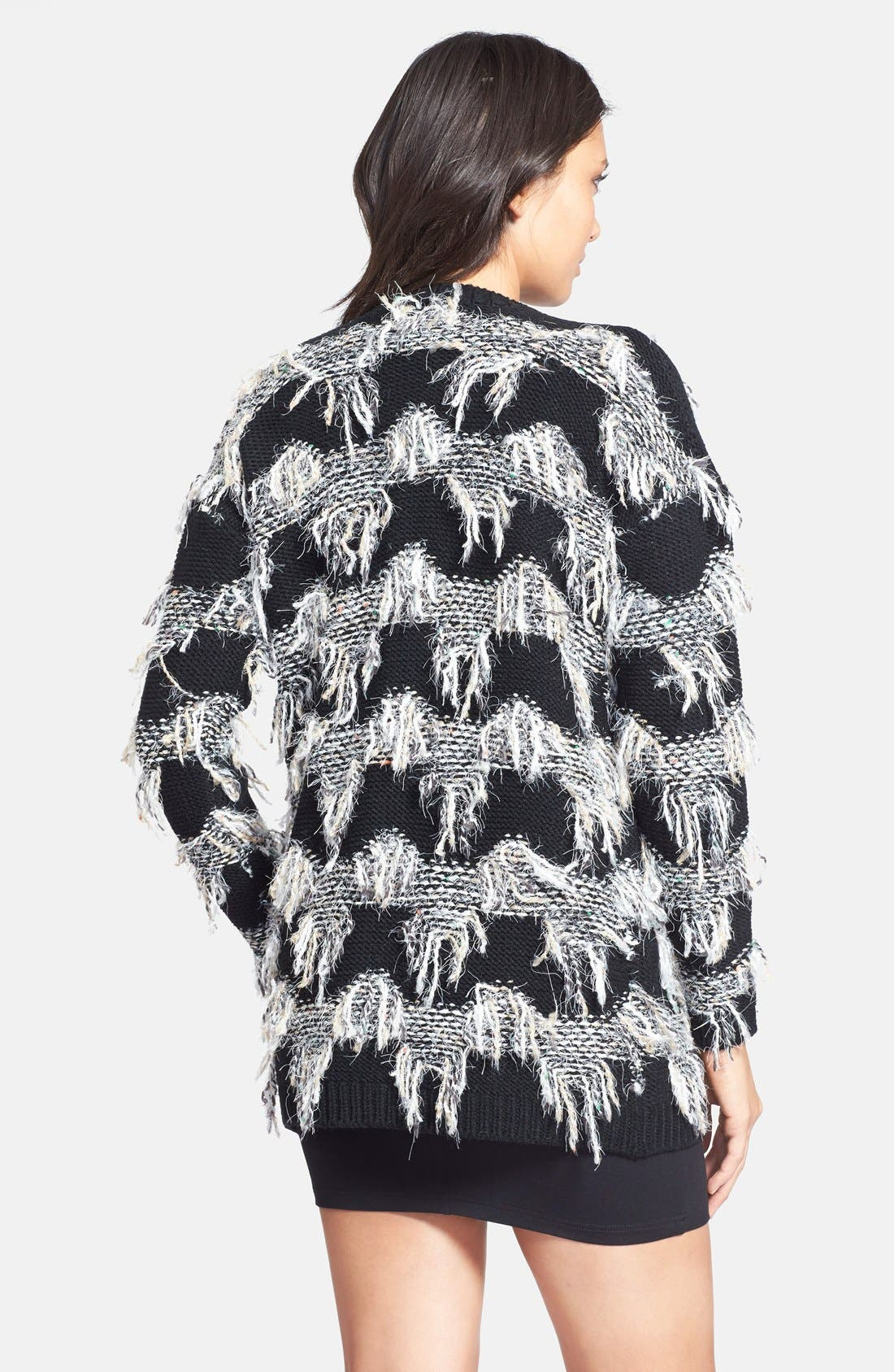 Alternate Image 2  - ASTR Fringe Cardigan