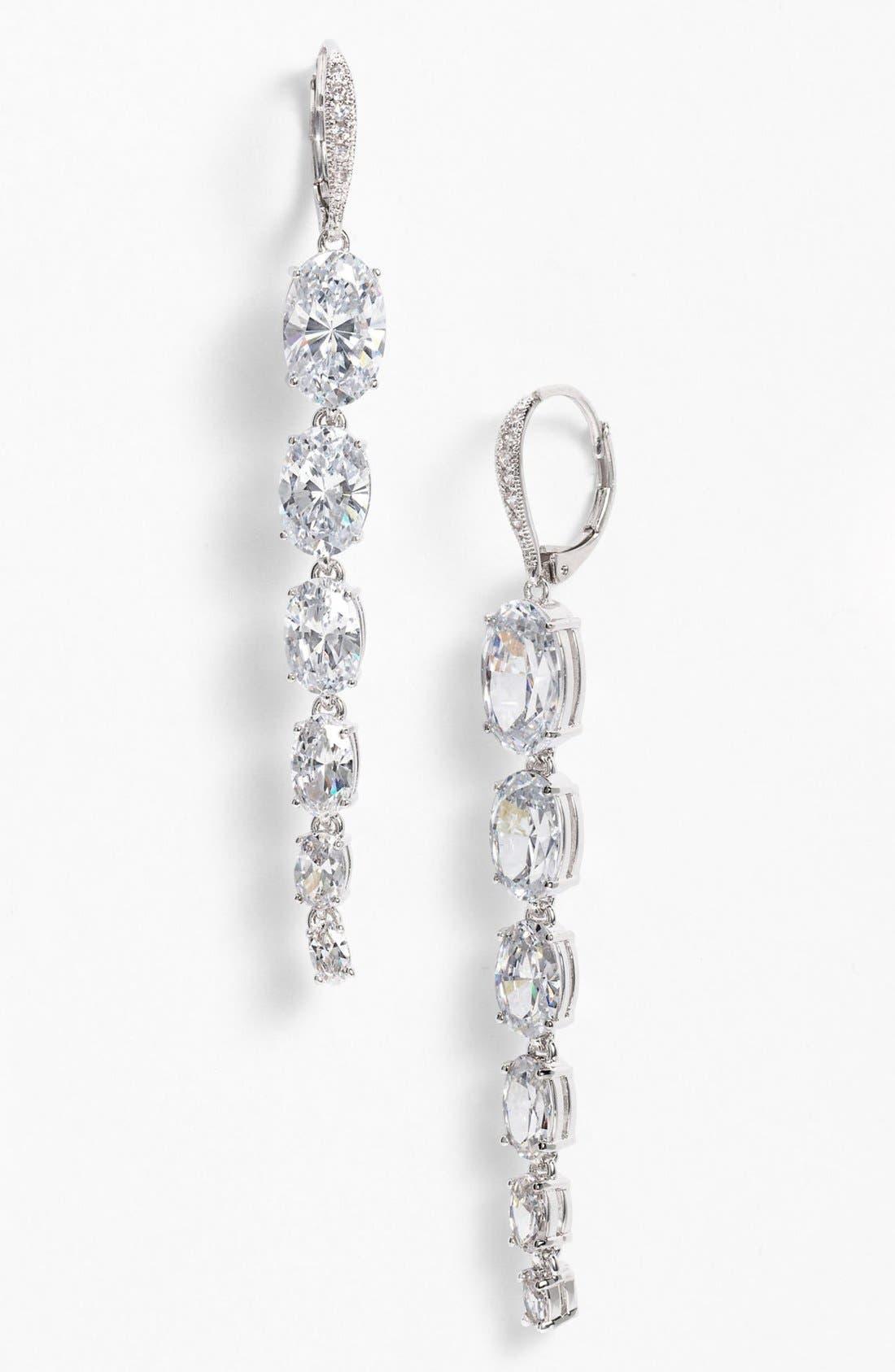Main Image - Nadri Cubic Zirconia Linear Earrings (Nordstrom Exclusive)