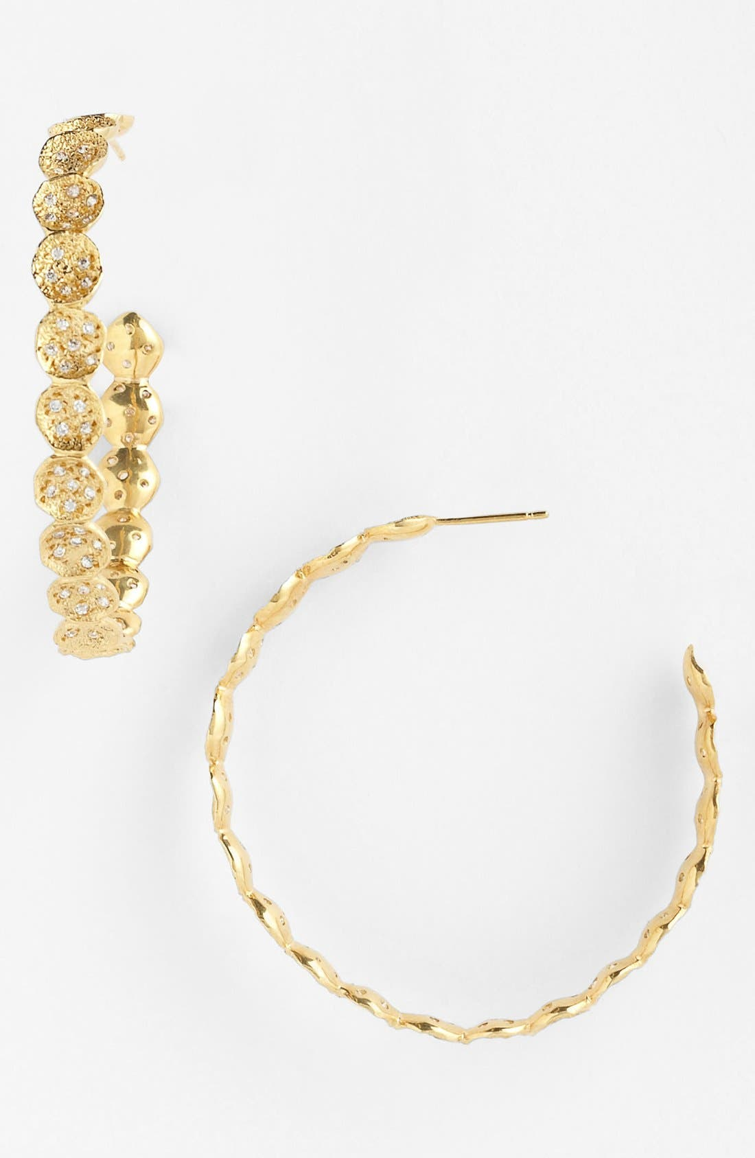 Main Image - Melinda Maria 'Sabina Infinity' Pavé Hoop Earrings