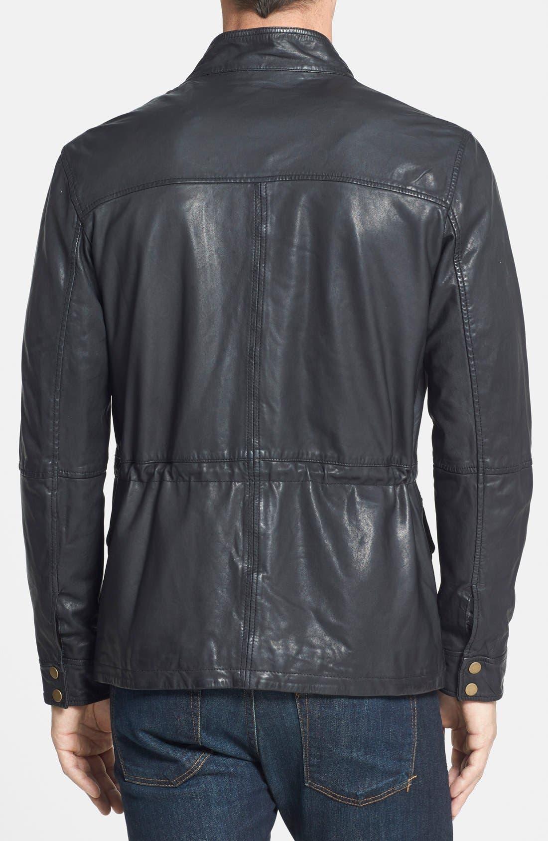 Alternate Image 2  - Cole Haan Vintage Lambskin Leather Jacket