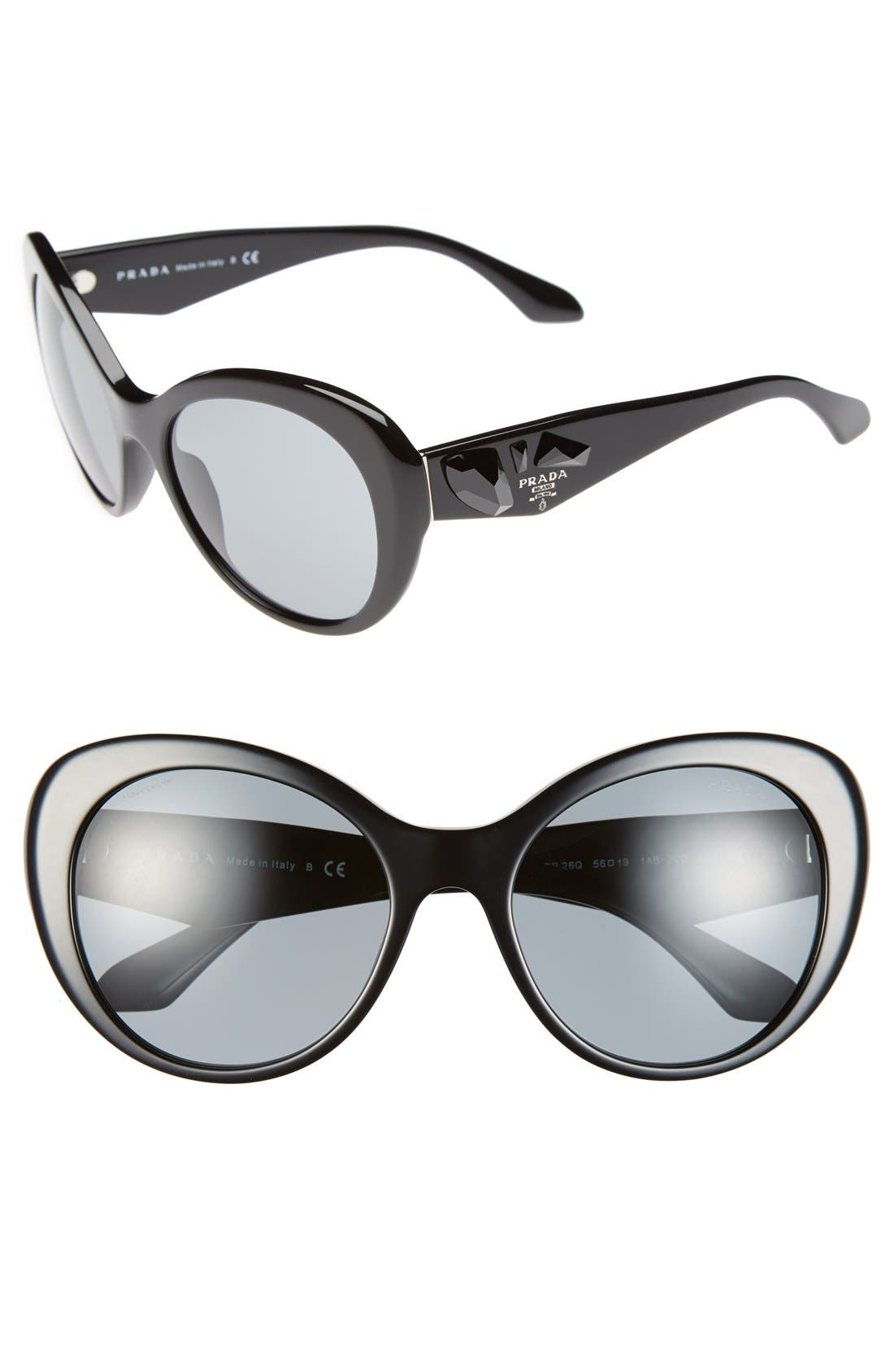 Alternate Image 1 Selected - Prada 'Voice' 56mm Sunglasses