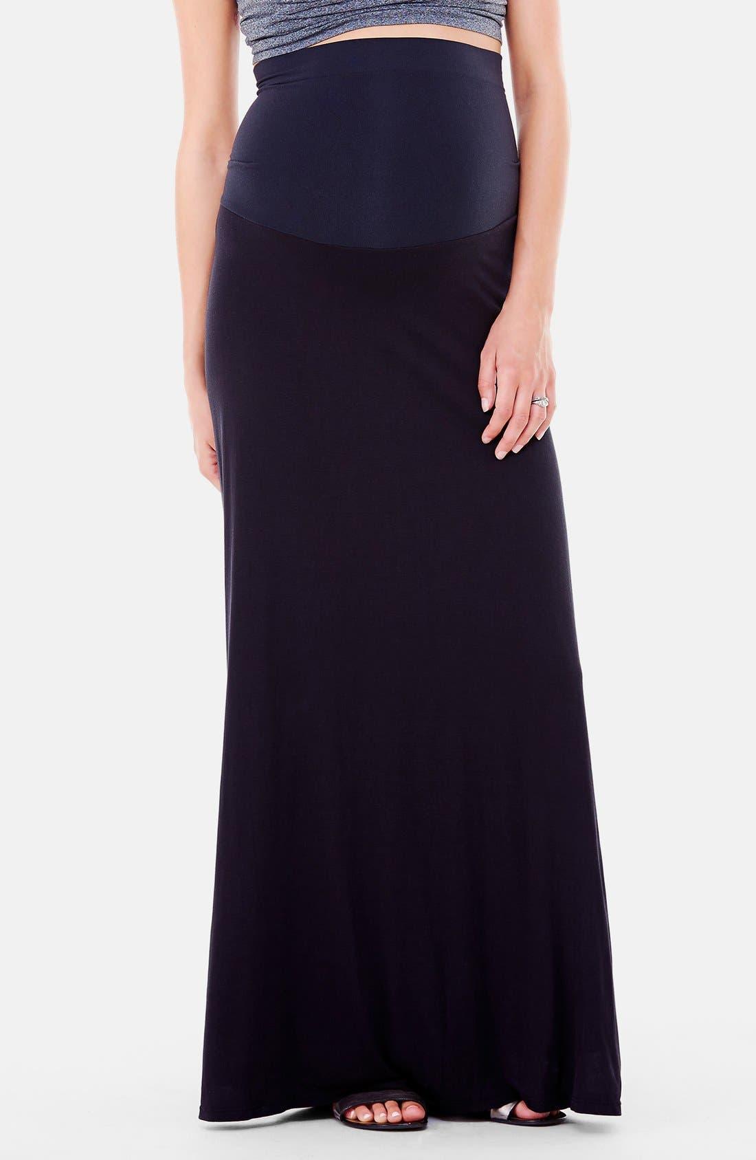 Alternate Image 1 Selected - Ingrid & Isabel®'Flowy' Maxi Maternity Skirt
