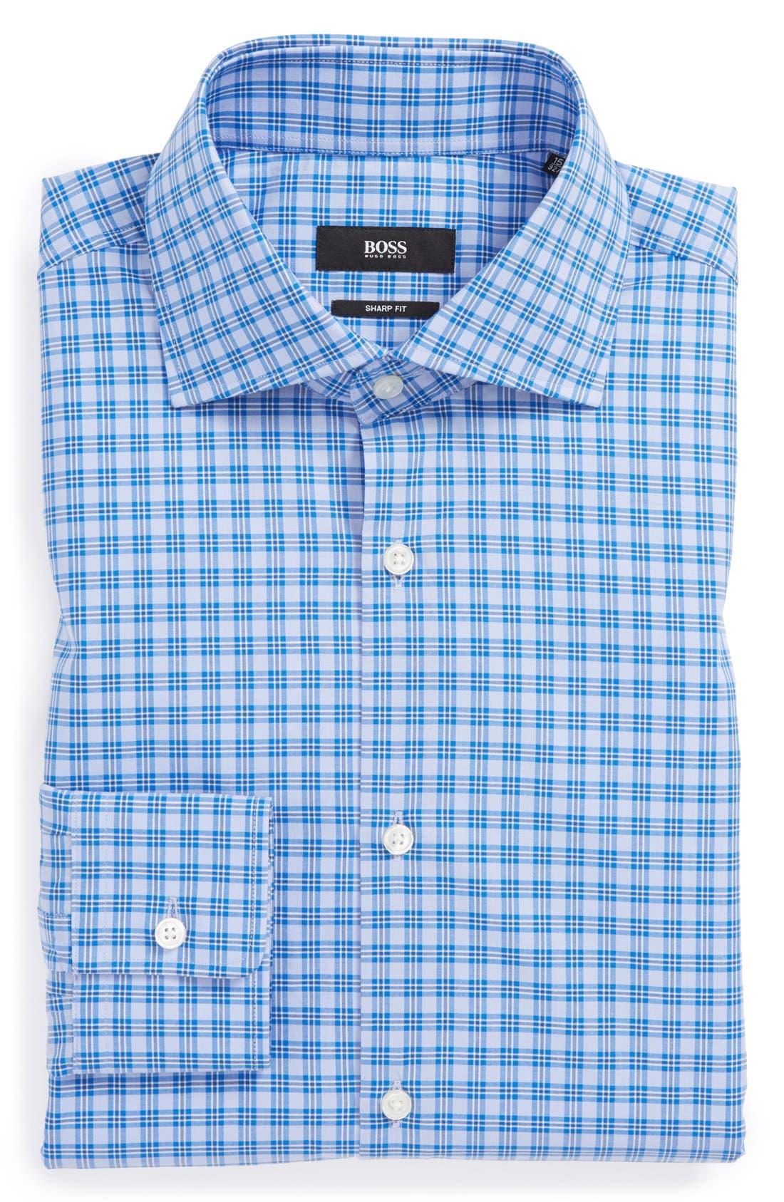 Alternate Image 1 Selected - BOSS HUGO BOSS 'Miles US' Sharp Fit Check Dress Shirt
