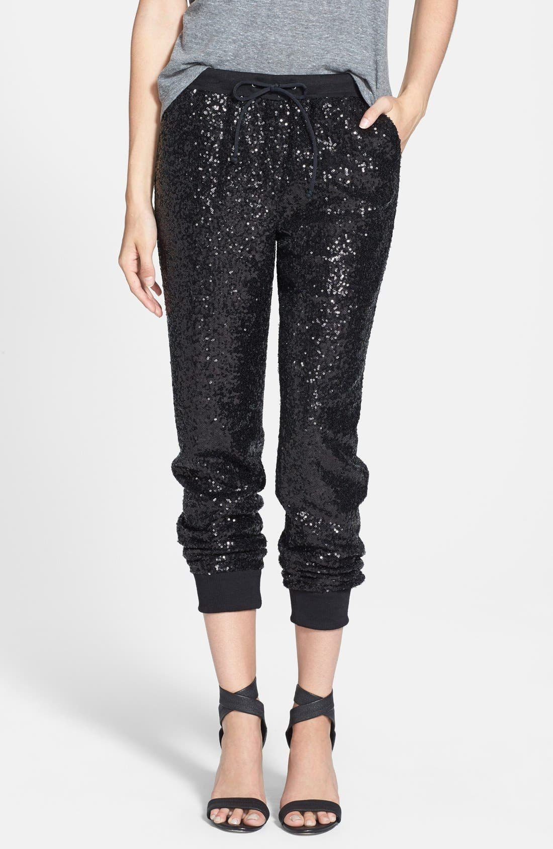 Main Image - Trouvé Sequin Track Pants