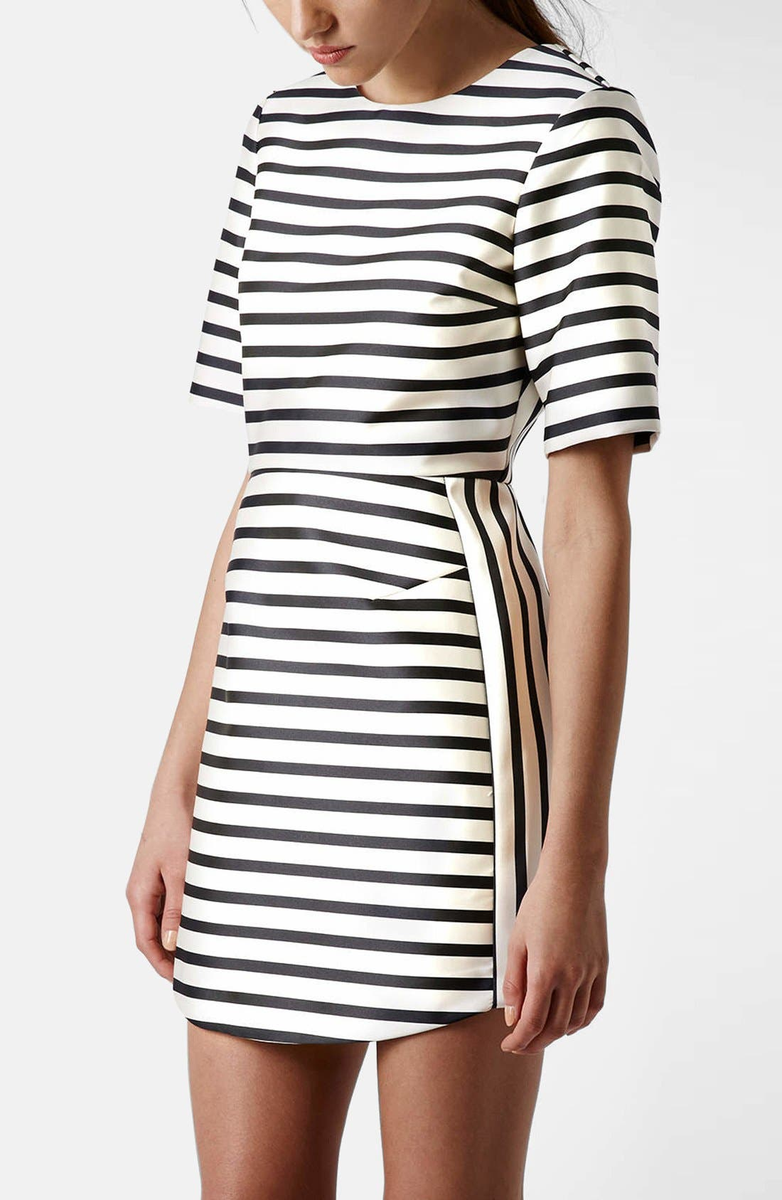 Main Image - Topshop Stripe A-Line Dress