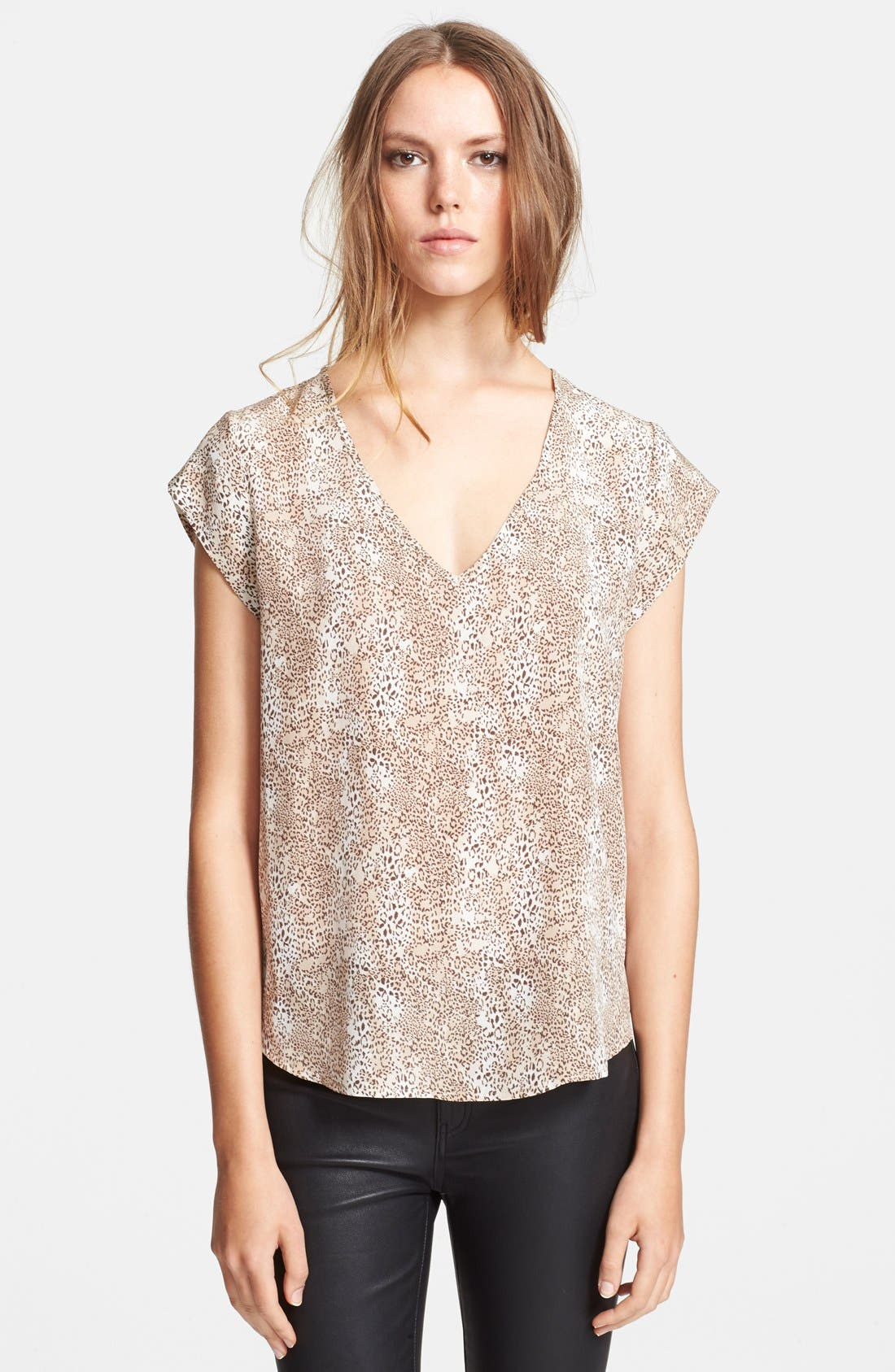 Alternate Image 1 Selected - Joie 'Linny' Print Silk Top