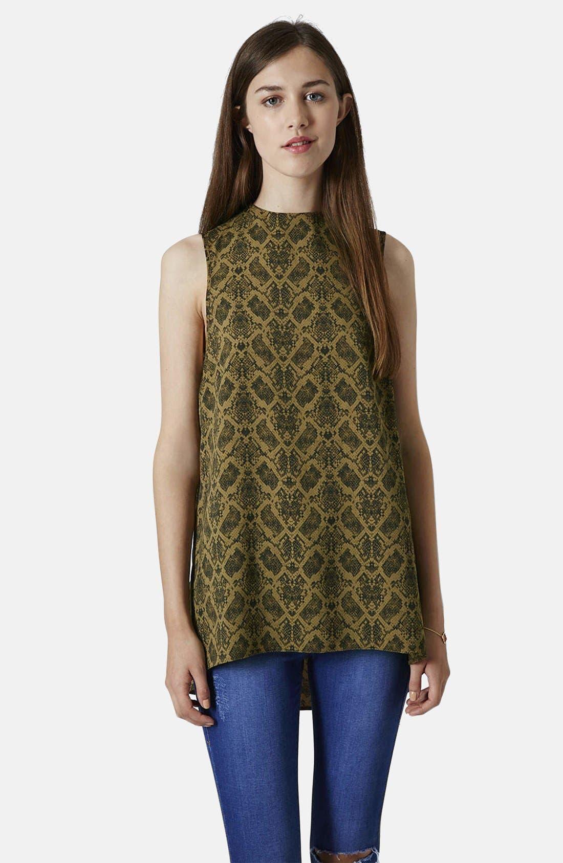 Main Image - Topshop Snake Print Tunic
