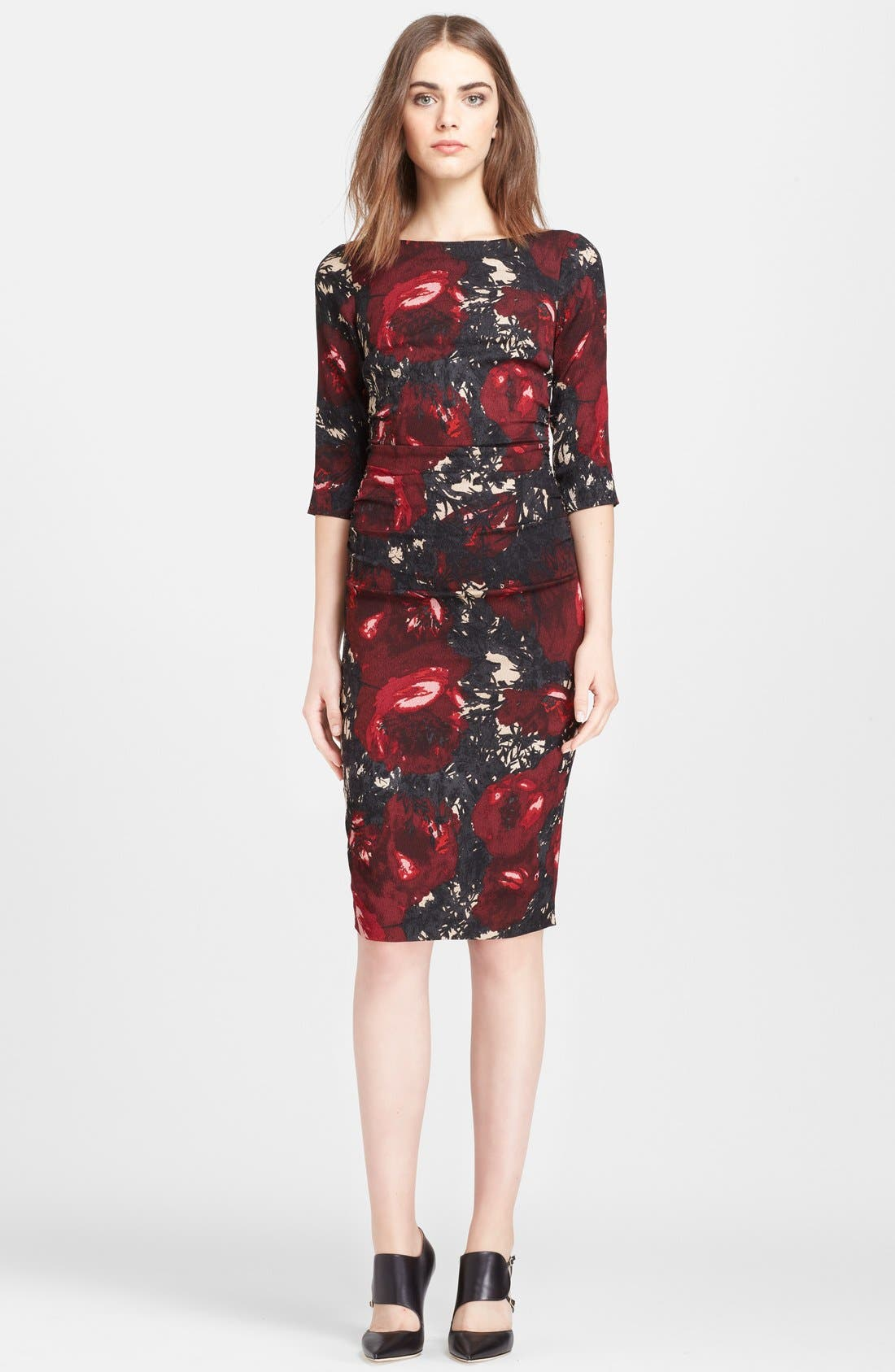 Main Image - Tracy Reese Print Stretch Silk Crepe Dress