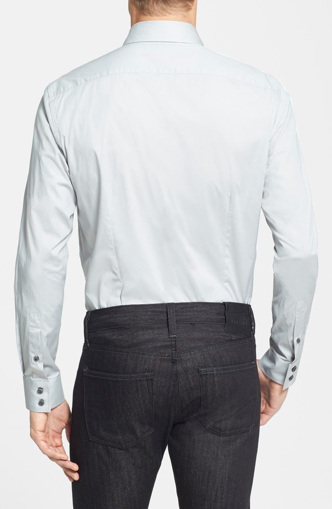 Alternate Image 2  - Kenneth Cole Collection Trim Fit Stretch Woven Sport Shirt