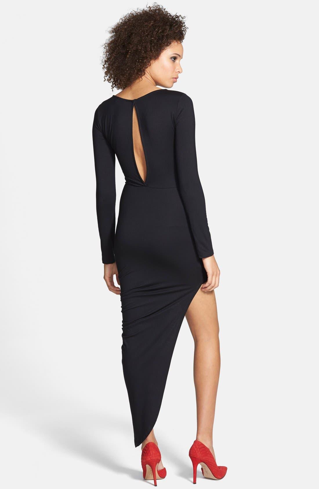 Alternate Image 2  - ASTR Twist Wrap Asymmetrical Body-Con Dress