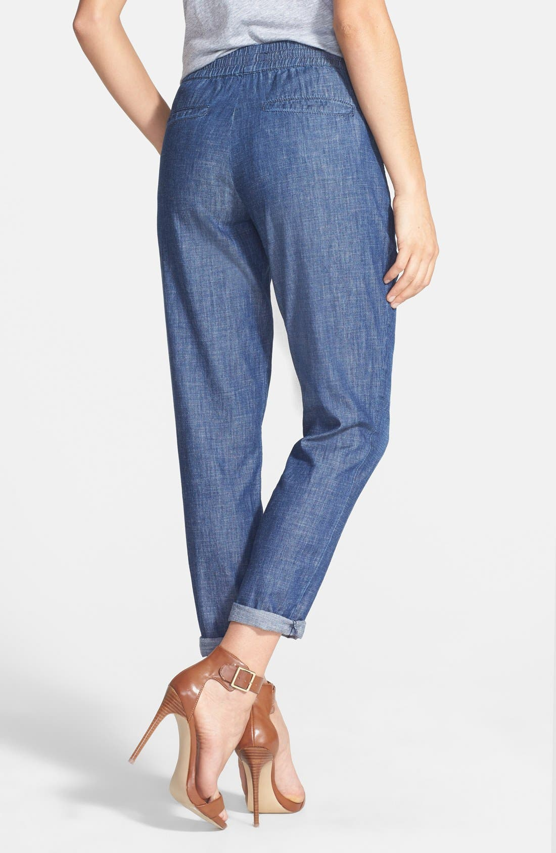 Alternate Image 2  - Christopher Blue 'Goldie' Chambray Drawstring Pants