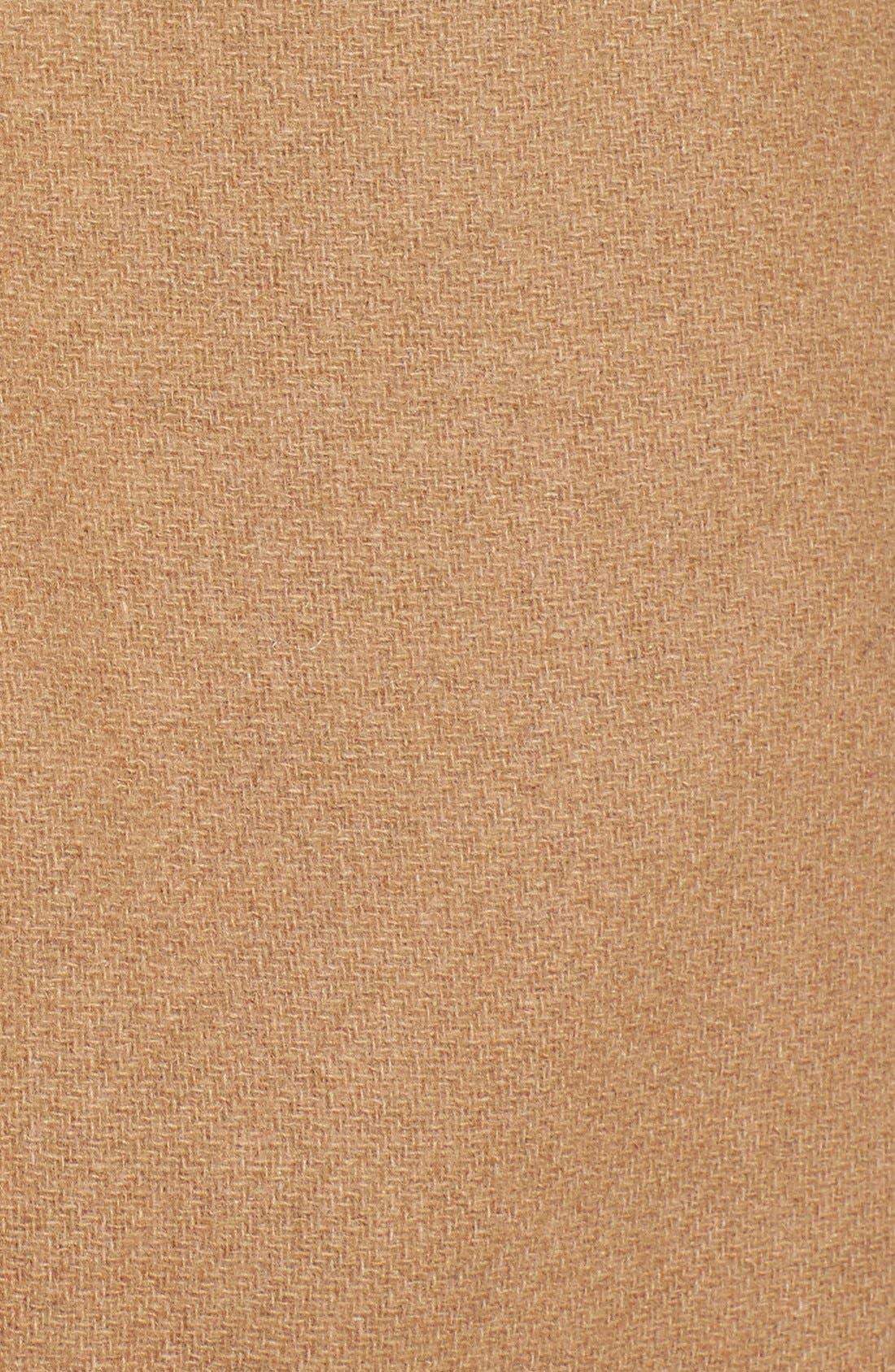 Alternate Image 3  - Ellen Tracy Hooded Wool Blend Coat with Genuine Fox Fur Trim (Online Only)