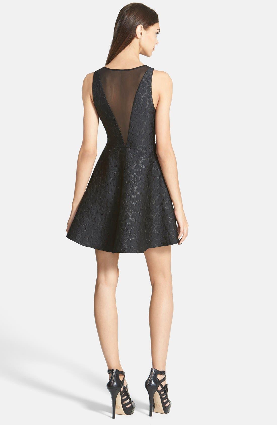 Alternate Image 2  - ASTR Jacquard Fit & Flare Dress
