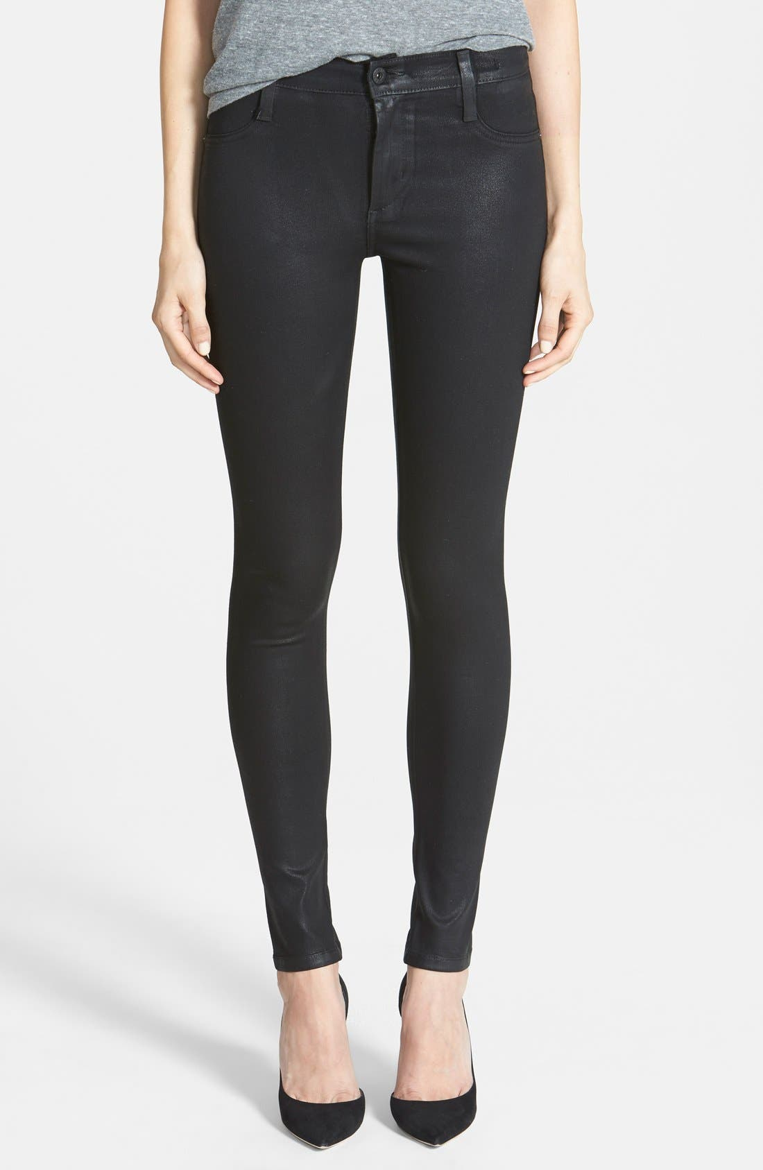 Alternate Image 1 Selected - James Jeans 'Twiggy' Seamless Yoga Leggings (Oil Slicked)