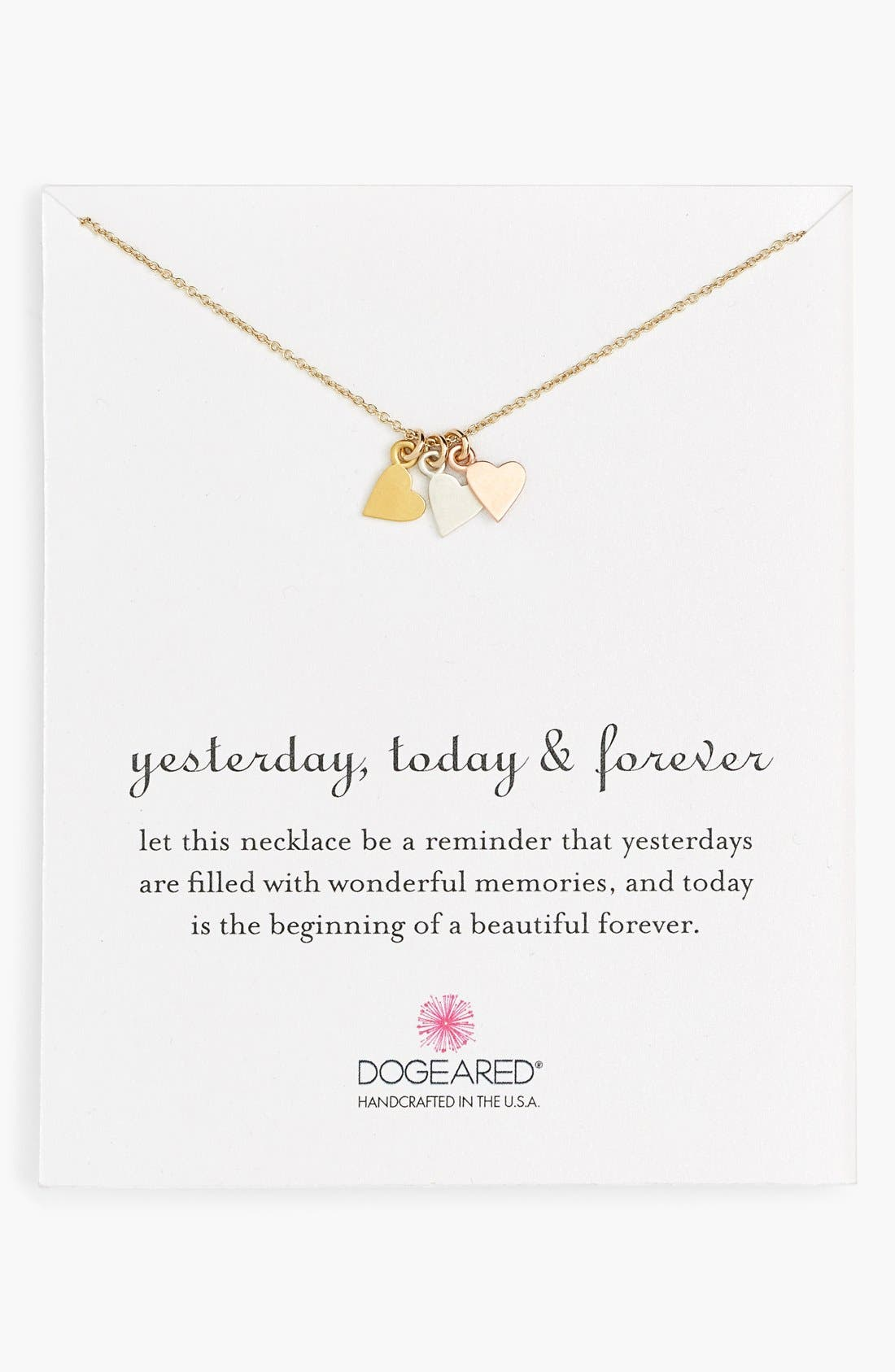 Main Image - Dogeared 'Yesterday, Today, Forever' Charm Necklace