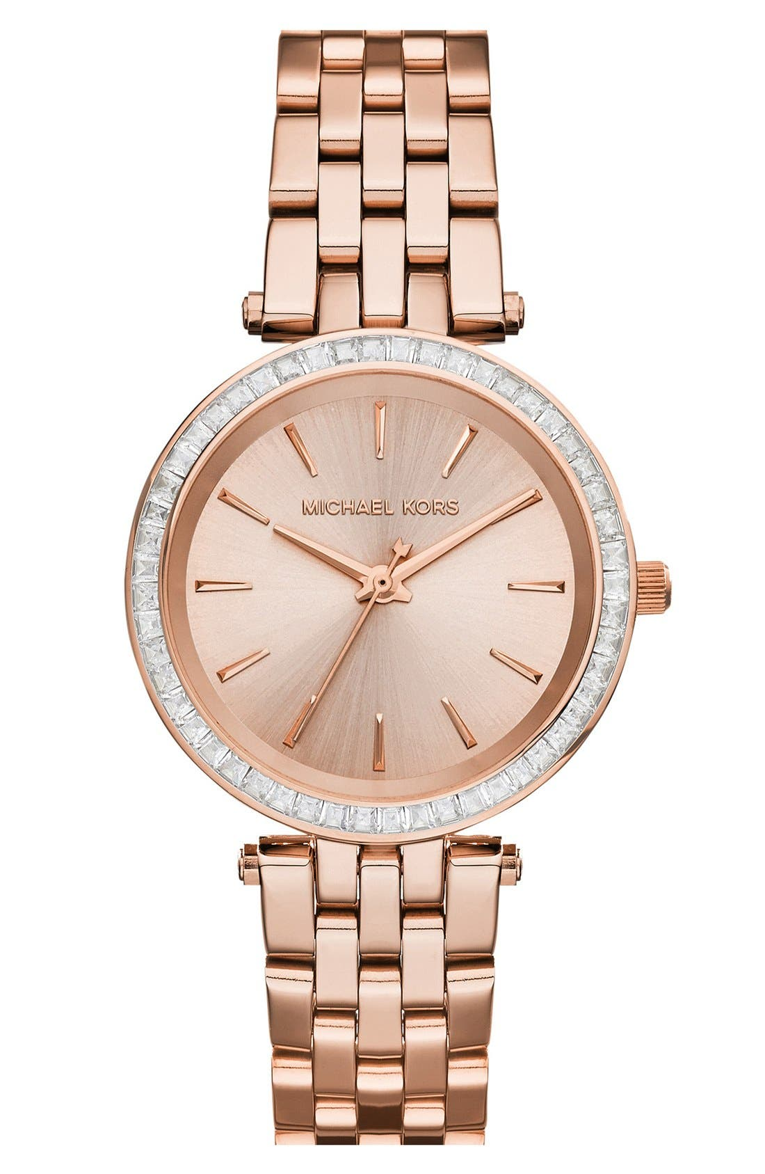Alternate Image 1 Selected - Michael Kors 'Mini Darci' Round Bracelet Watch, 33mm